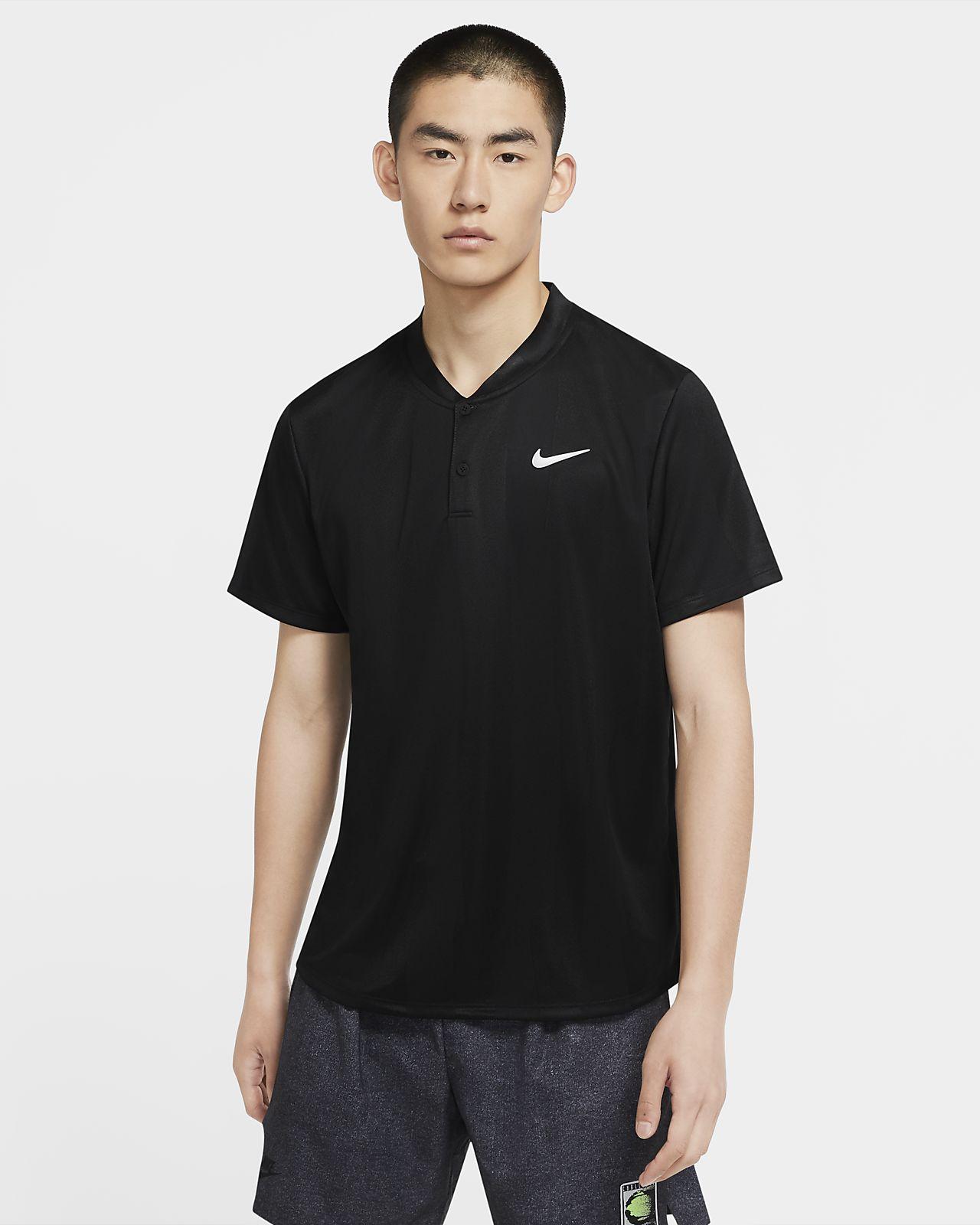 เสื้อโปโลเทนนิสผู้ชายพิมพ์ลาย NikeCourt Dri-FIT