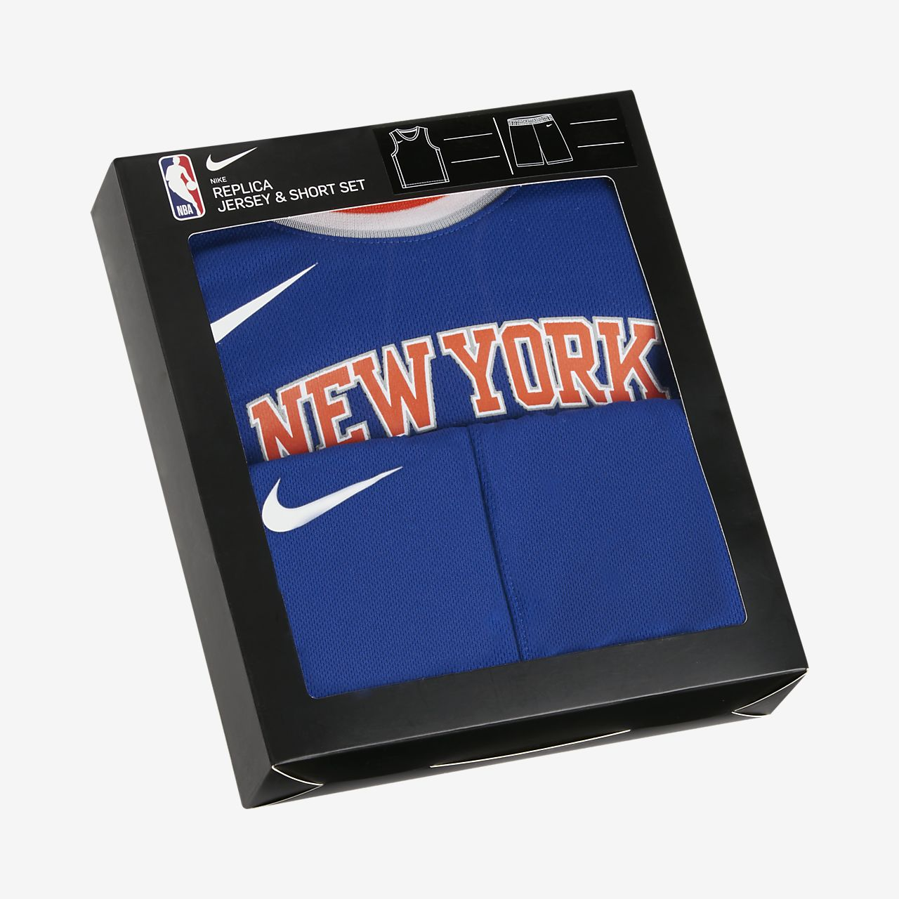 Knicks Replica Nike NBA Set aus Trikot und Shorts für Kleinkinder