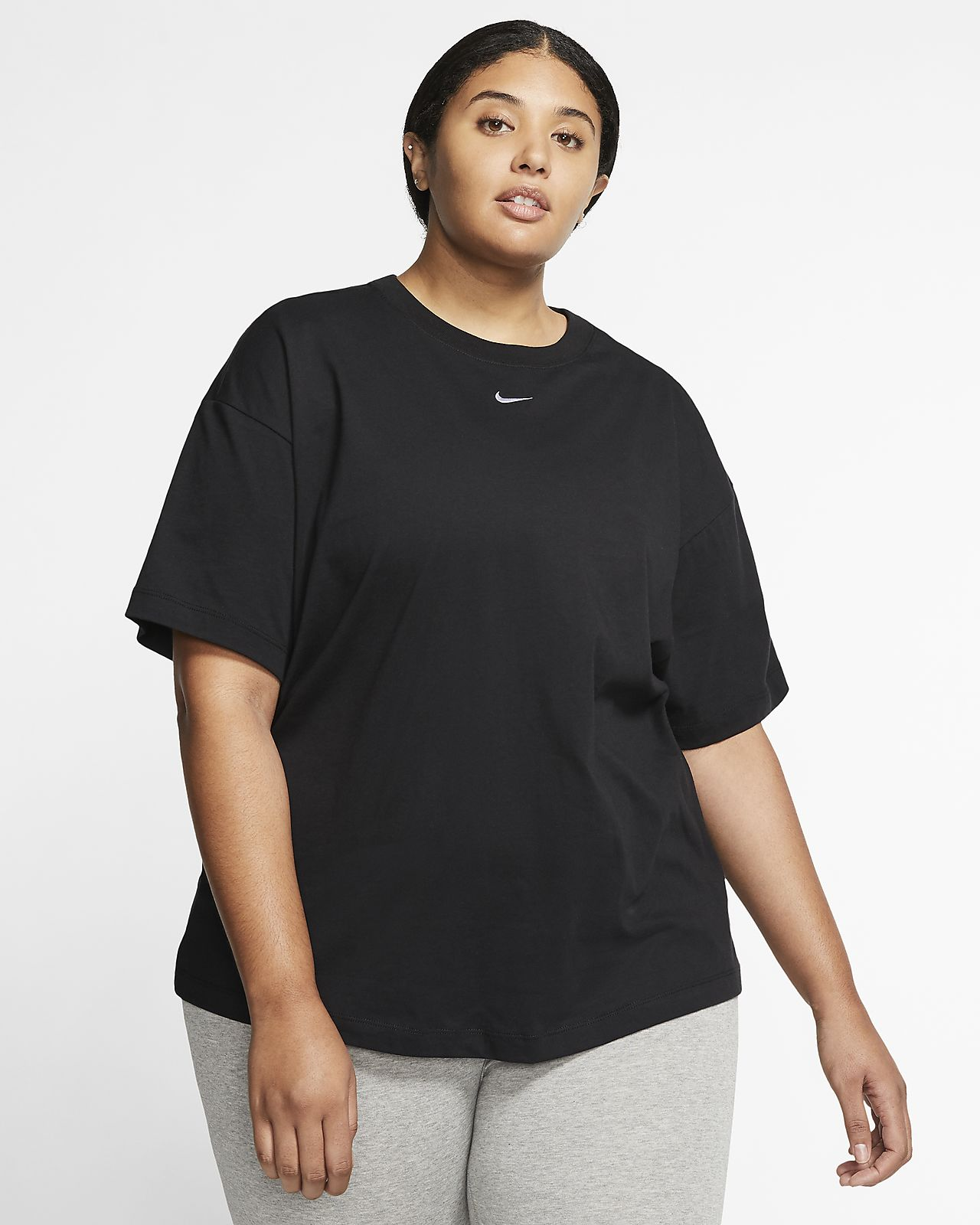 Nike Sportswear Topper blackwhite Dame T skjorter