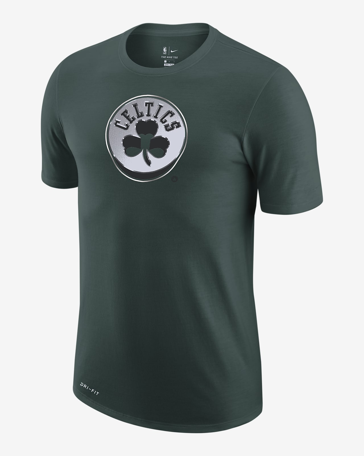 Boston Celtics Earned Edition Camiseta Logo Nike Dri-FIT de la NBA - Hombre