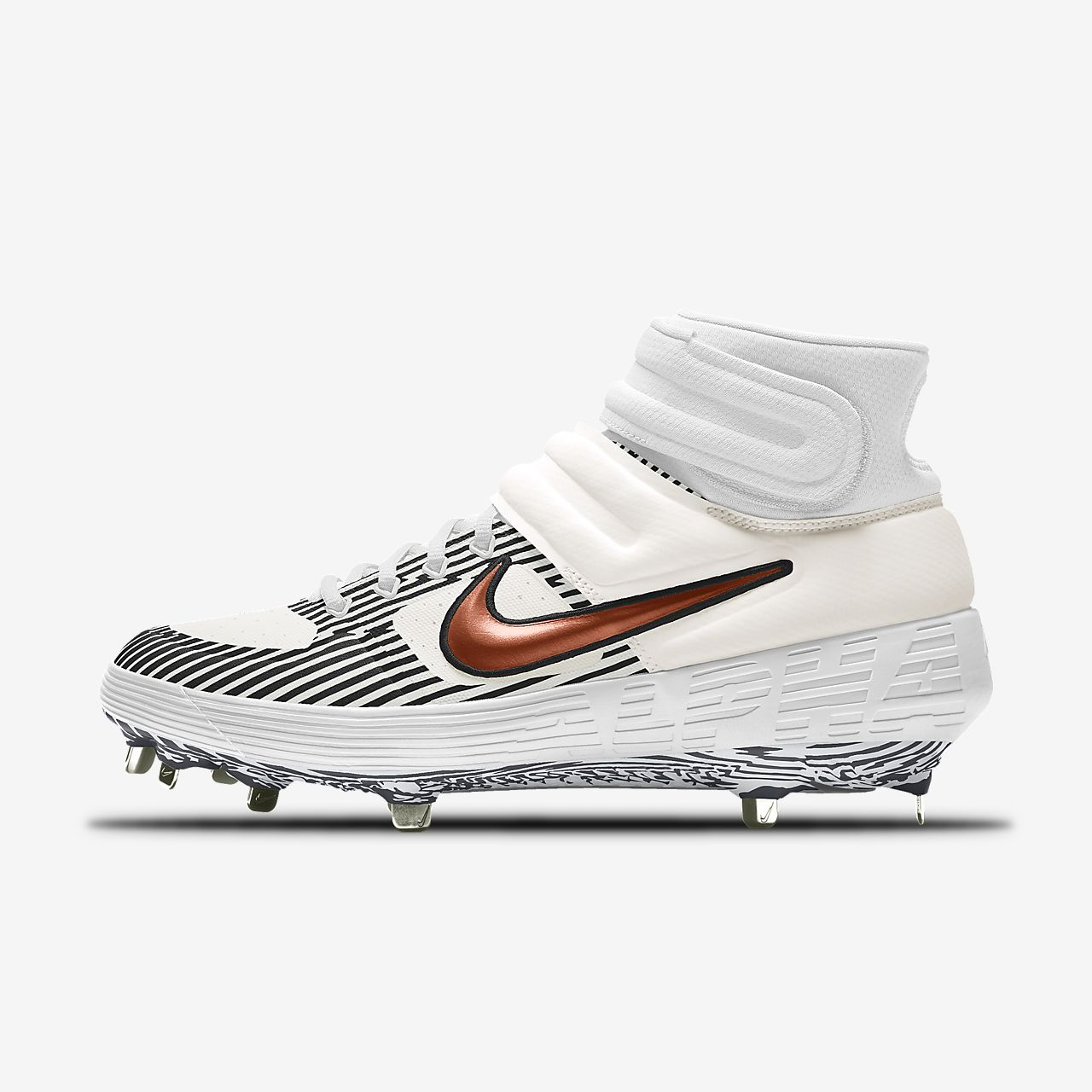 Nike Alpha Huarache Elite 2 Mid Metal Premium By You Custom-baseballstøvle