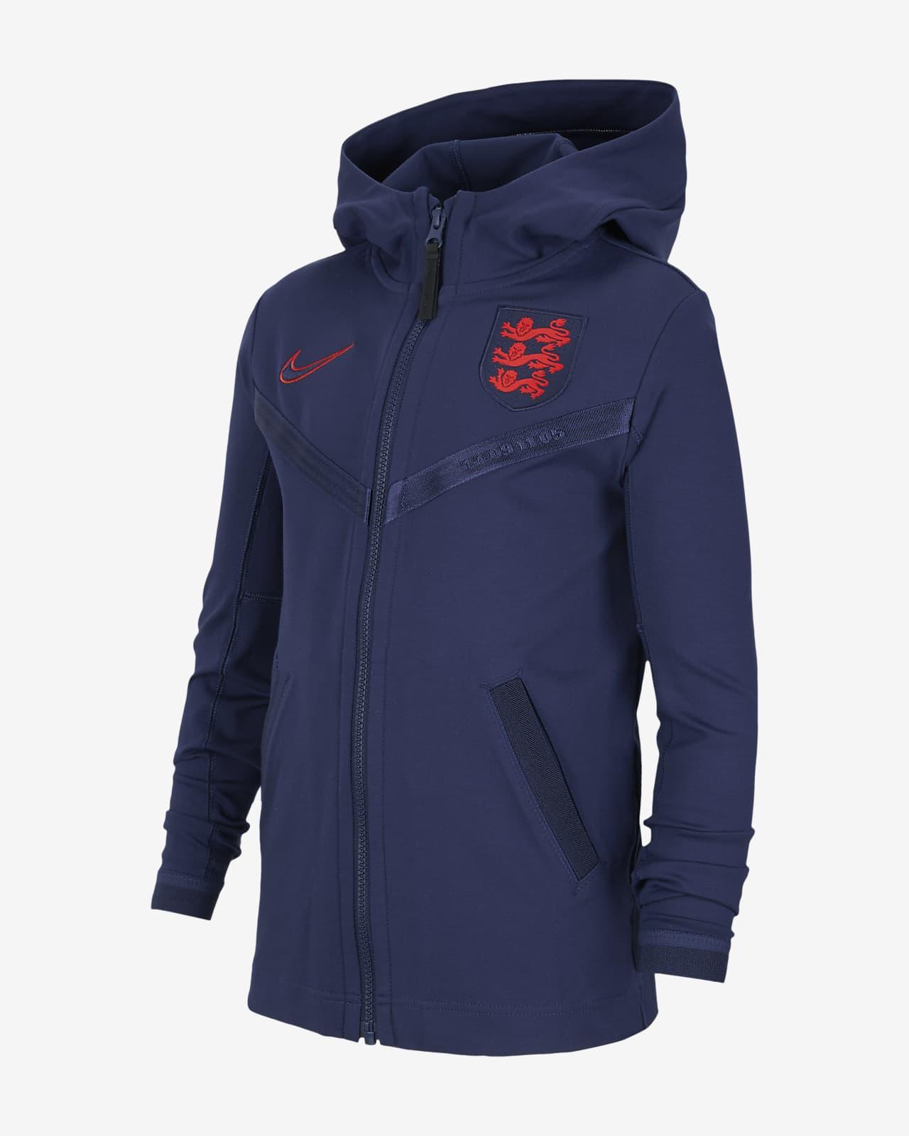 Felpa da calcio con cappuccio e zip a tutta lunghezza Inghilterra Tech Pack - Ragazzi