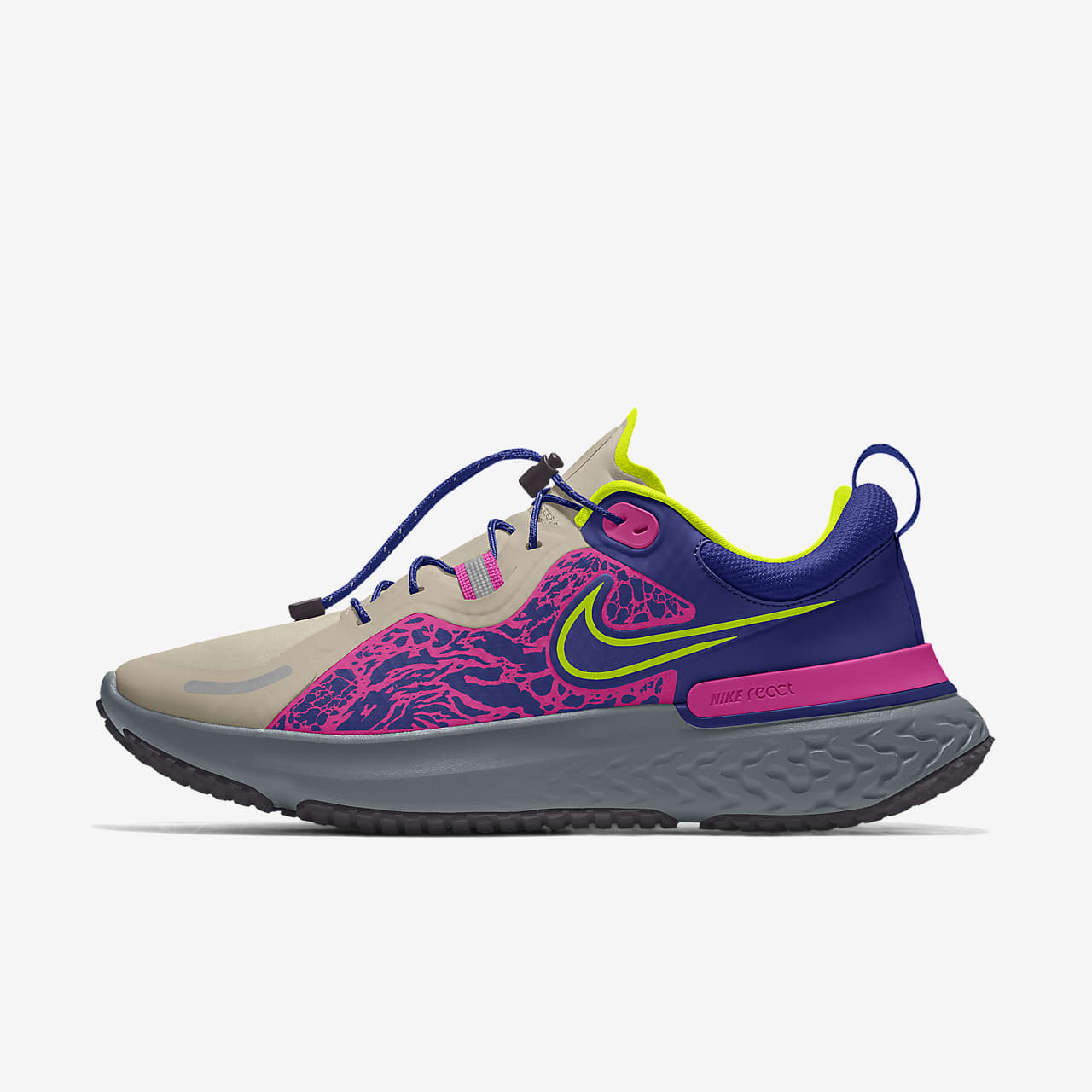 Chaussure de running personnalisable Nike React Miler Shield By You