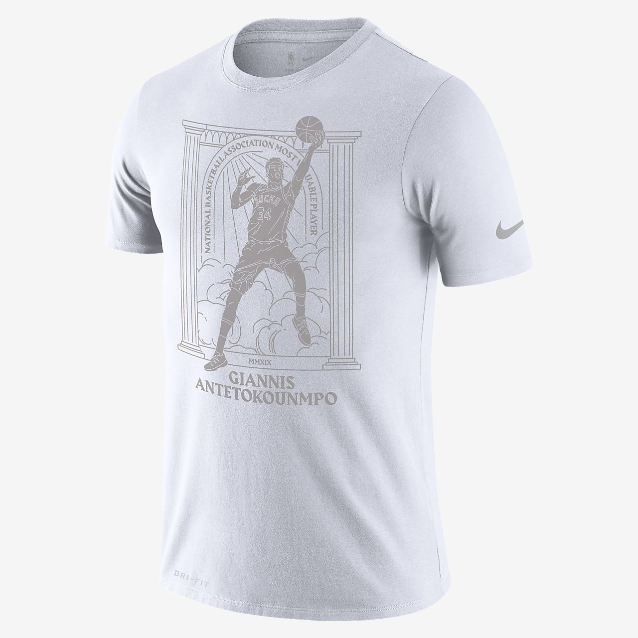 Giannis Antetokounmpo Bucks MVP Nike NBA-herenshirt met Dri-FIT