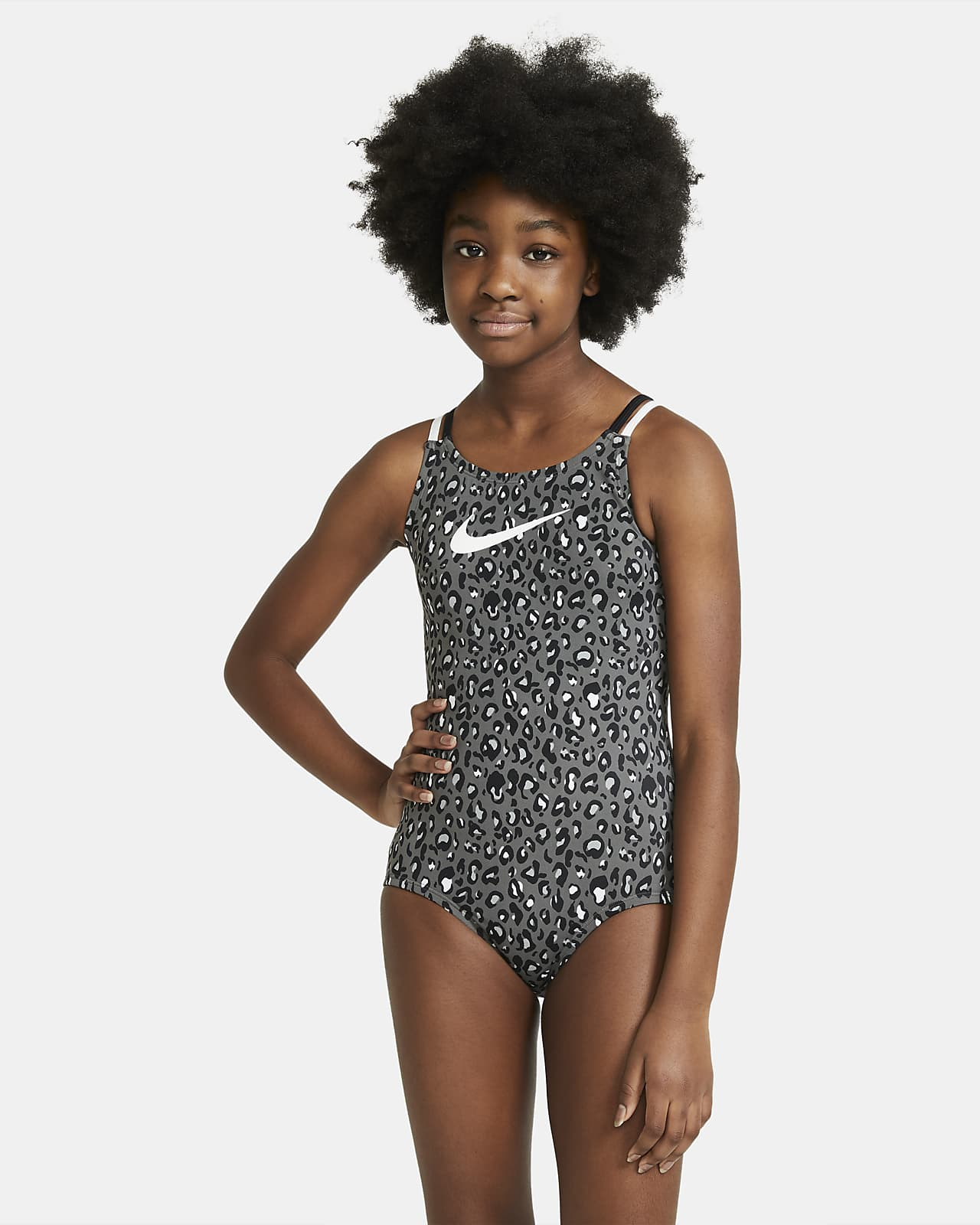 Nike Older Kids' (Girls') Spiderback 1-Piece Swimsuit