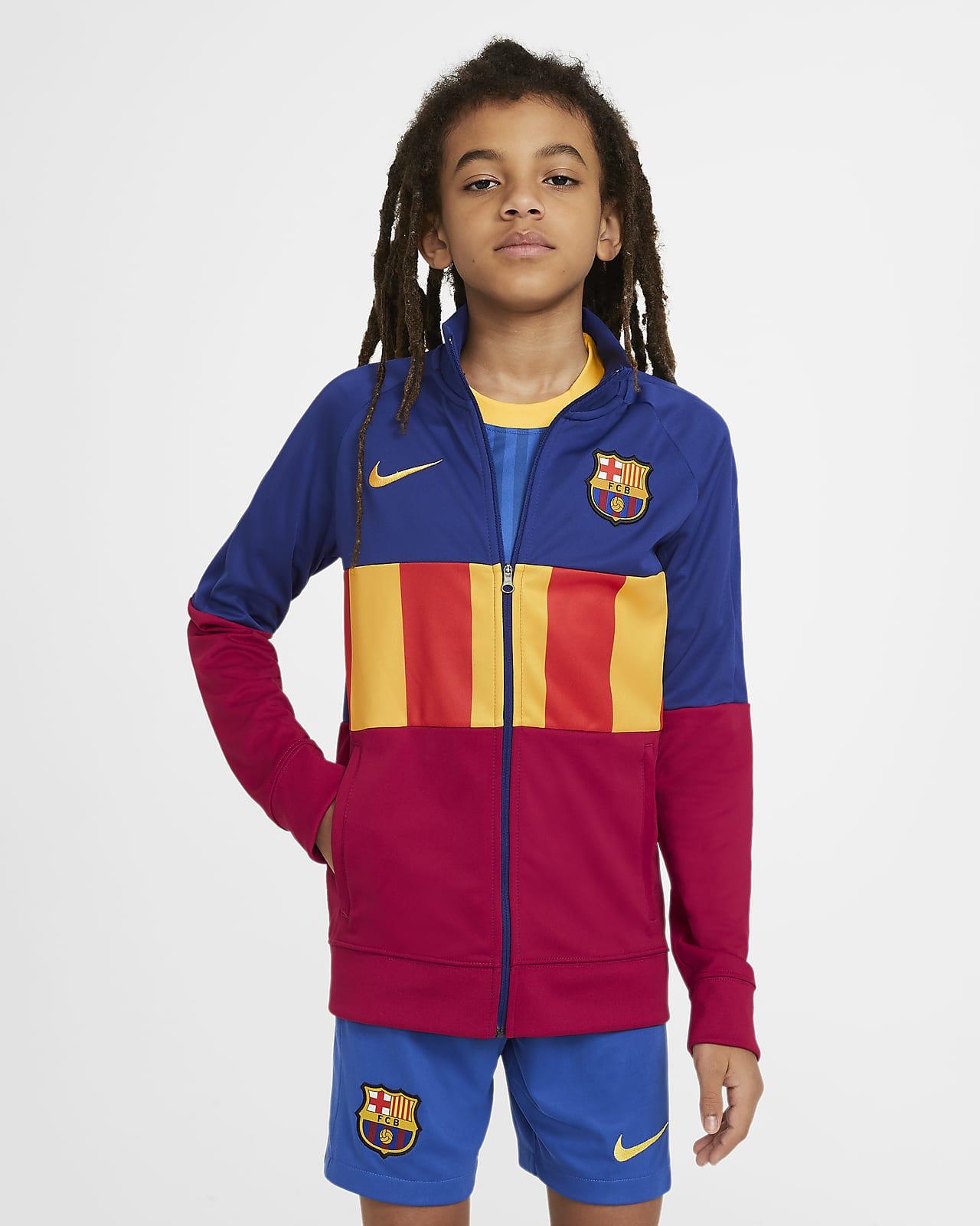 F.C. Barcelona Anthem Older Kids' Football Tracksuit Jacket