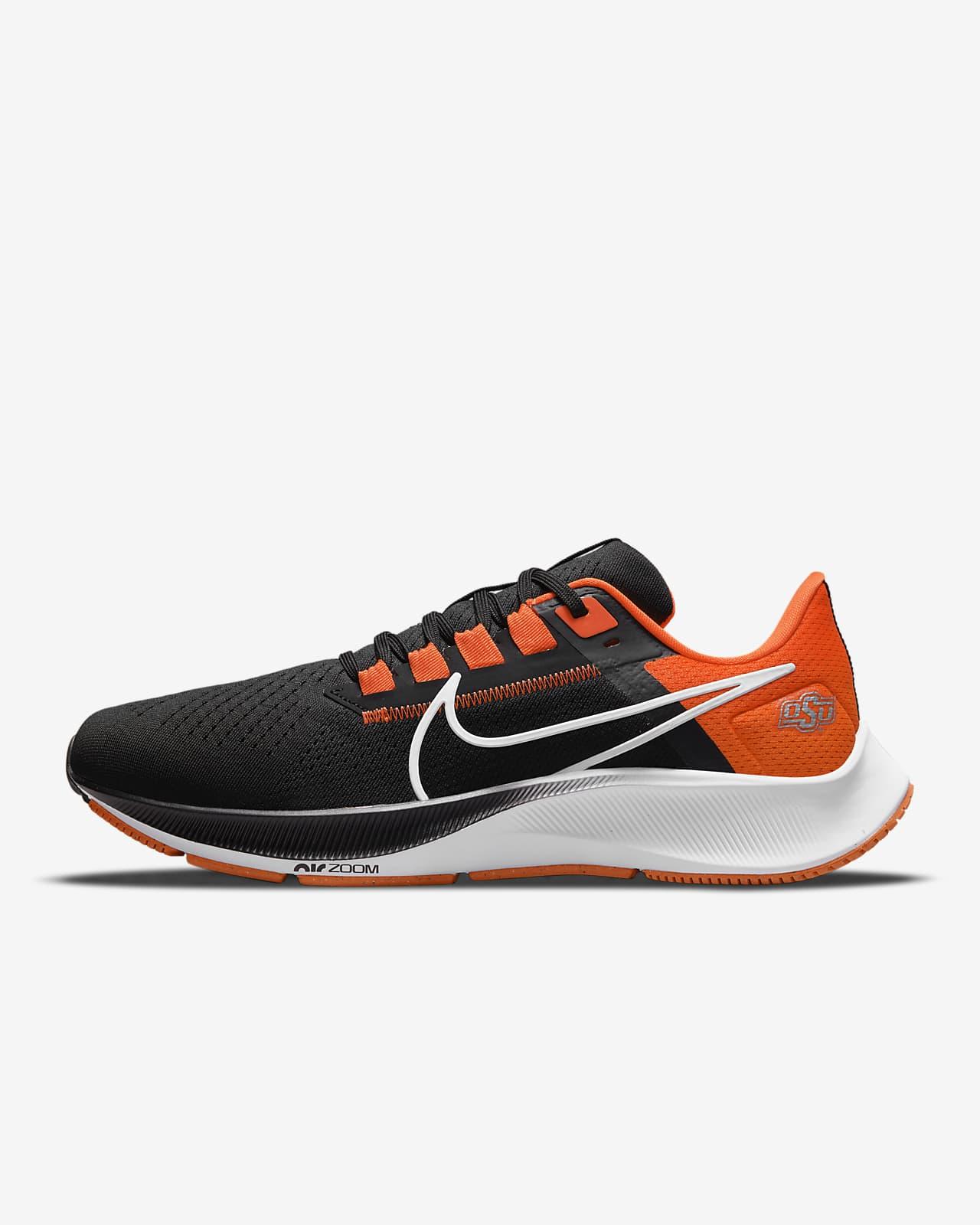 Nike College Air Zoom Pegasus 38 (Oklahoma State) Running Shoe