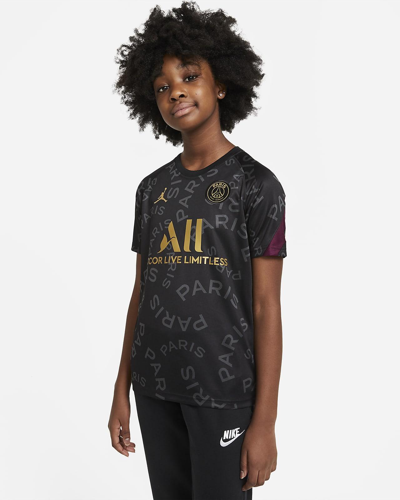 Kortærmet Paris Saint-Germain-Pre-Match-fodboldtrøje til store børn