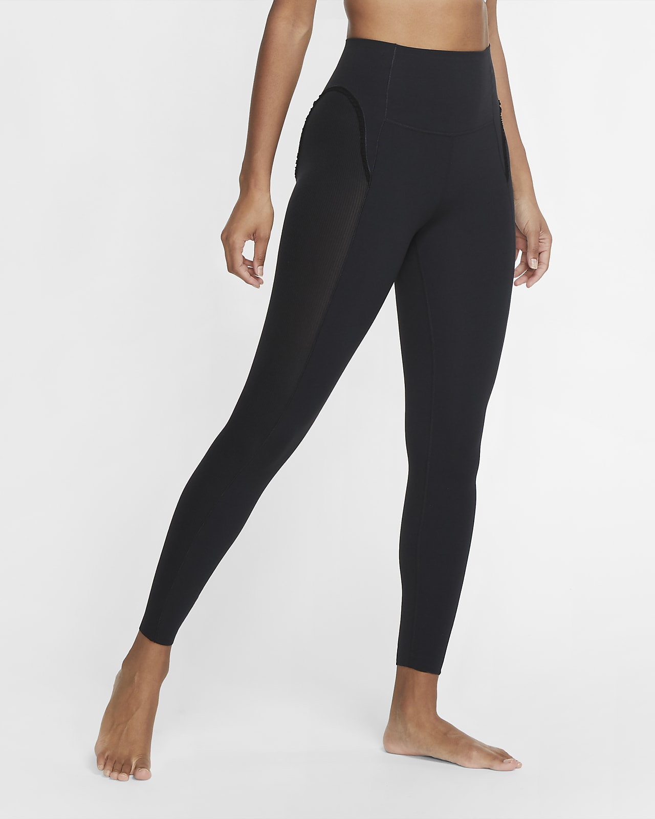 Leggings de 7/8 de tela ondulada Infinalon para mujer Nike Yoga Luxe