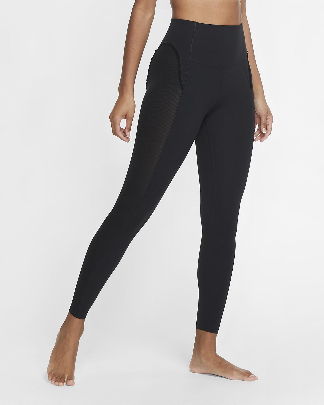 Nike Yoga Luxe geraffte Infinalon-7/8-Tights für Damen