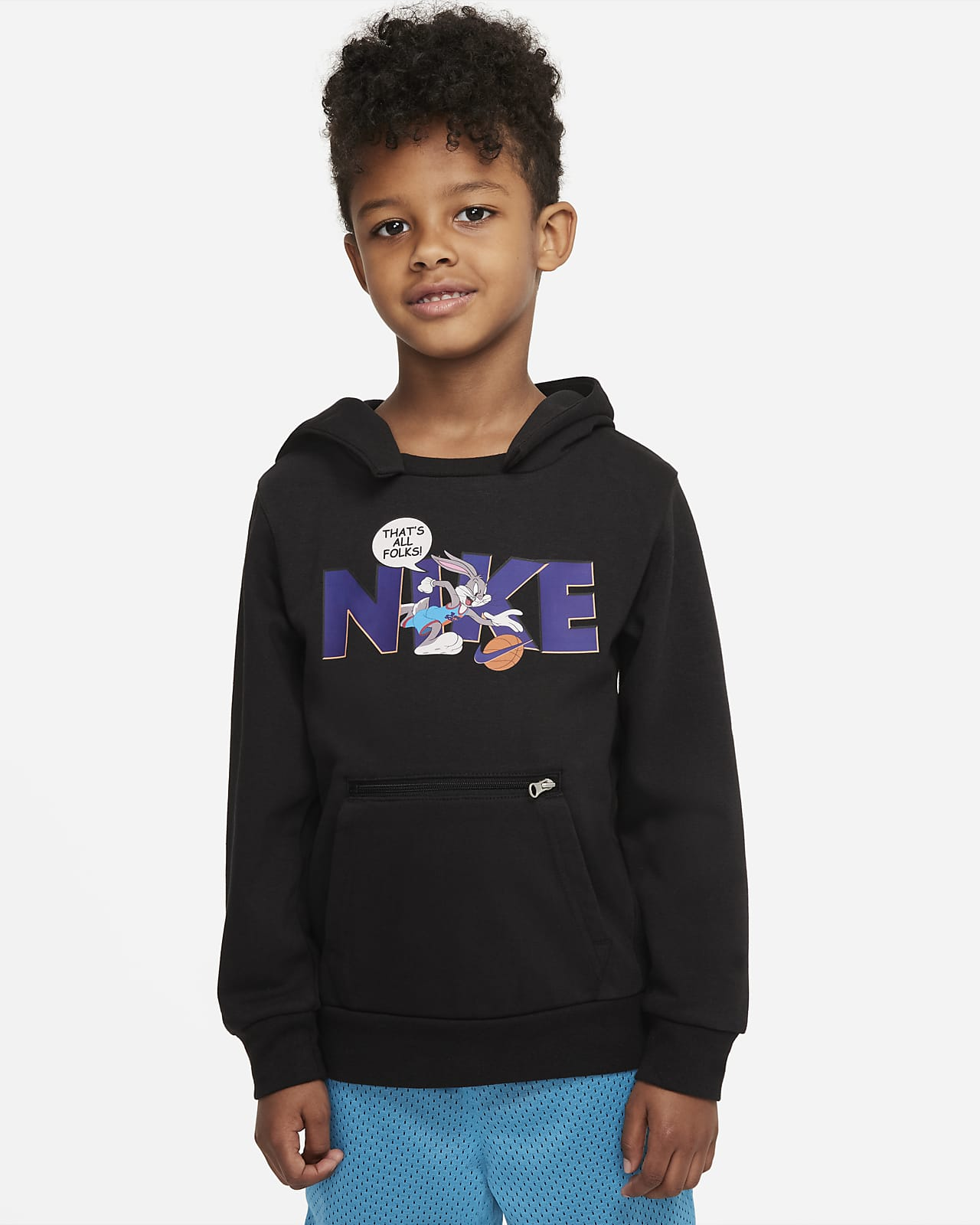Nike Dri-FIT x Space Jam: A New Legacy Little Kids' Pullover Hoodie