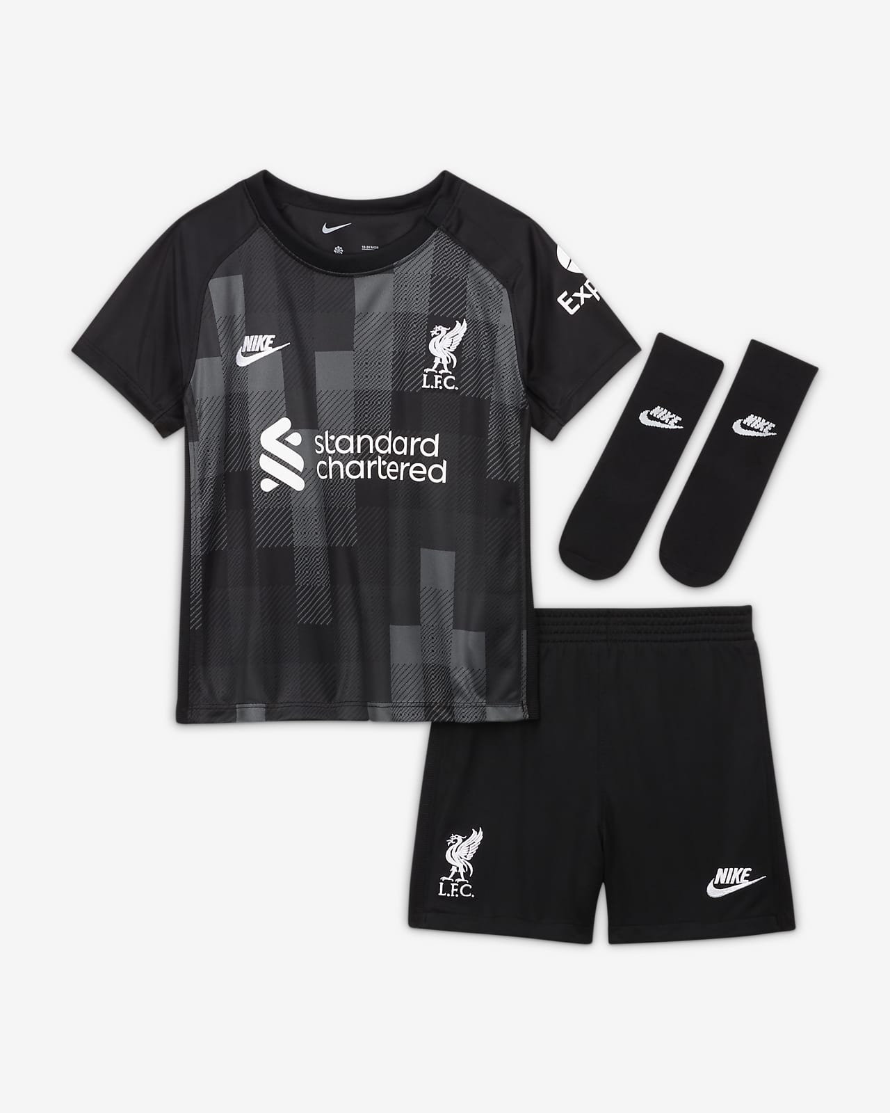 Liverpool FC 2021/22 Goalkeeper Fußballtrikot-Set für Babys und Kleinkinder
