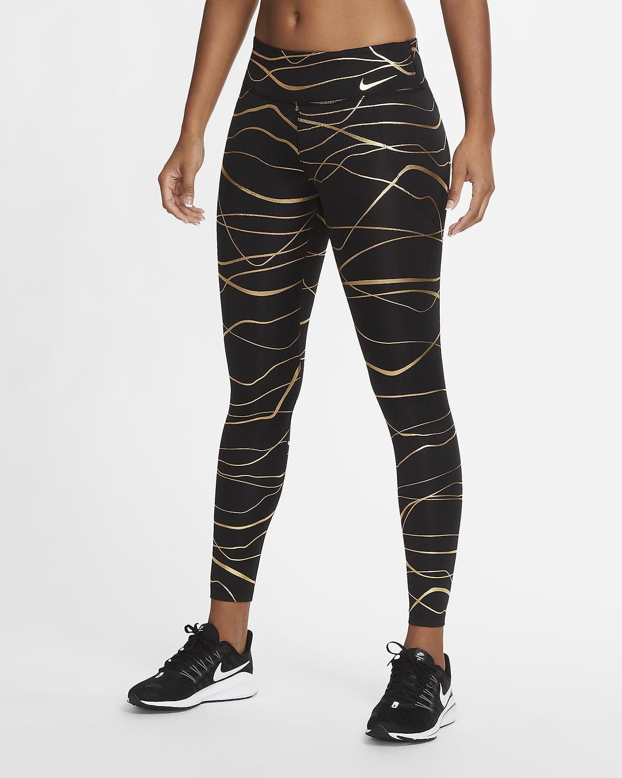 เลกกิ้งวิ่งเอวปานกลางผู้หญิง Nike Icon Clash Fast