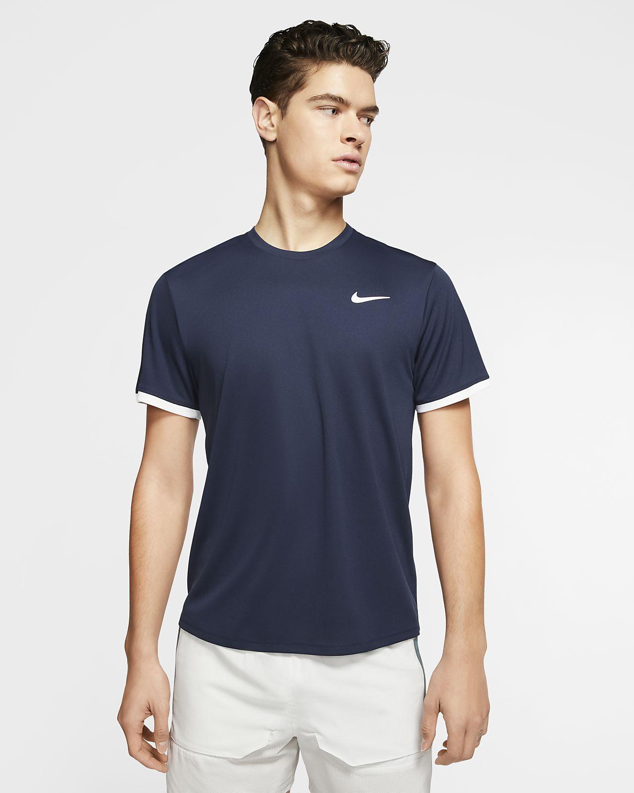 Nike Men`s NikeCourt Dri-FIT Tennis Short Sleeve Top
