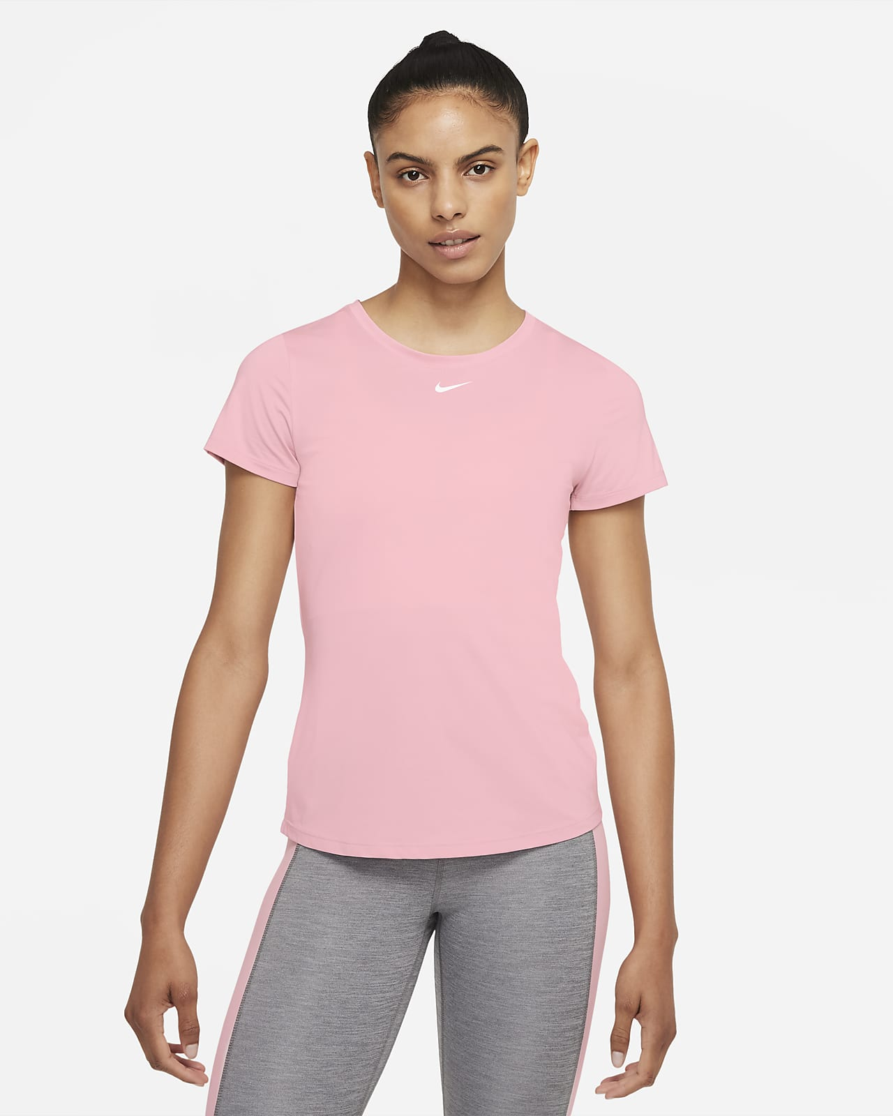 Haut à manches courtes et coupe slim Nike Dri-FIT One pour Femme
