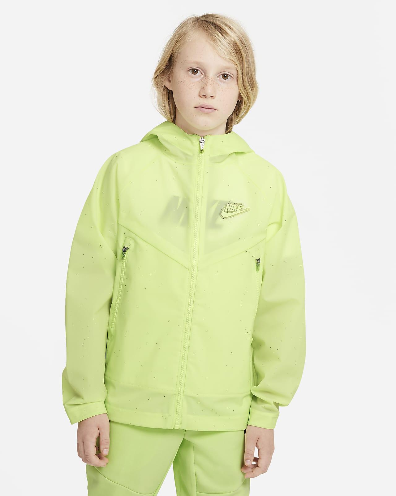 Chamarra con capucha para niño talla grande Nike Sportswear Windrunner Zero