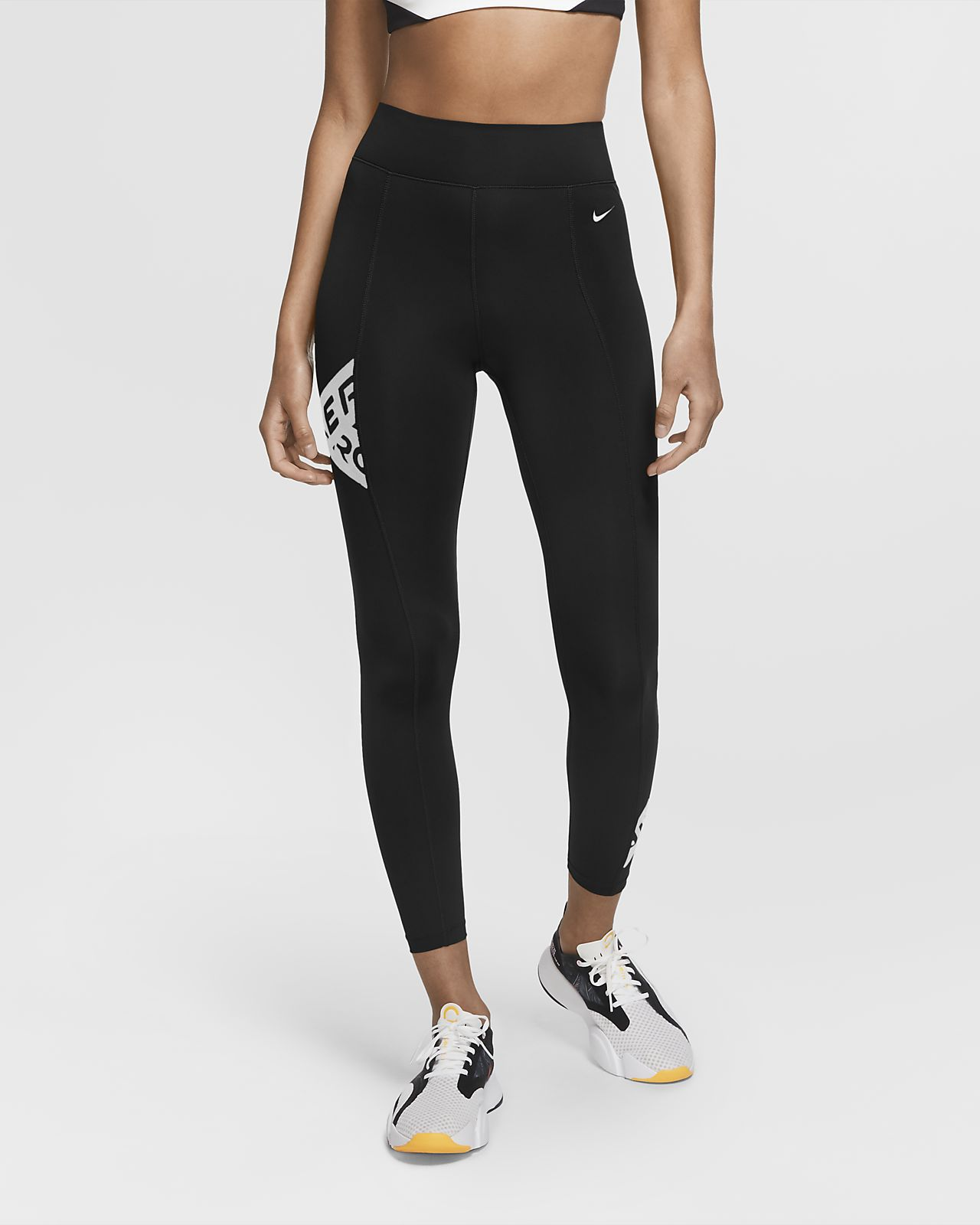 Nike Pro tights i 7/8 lengde med grafikk til dame