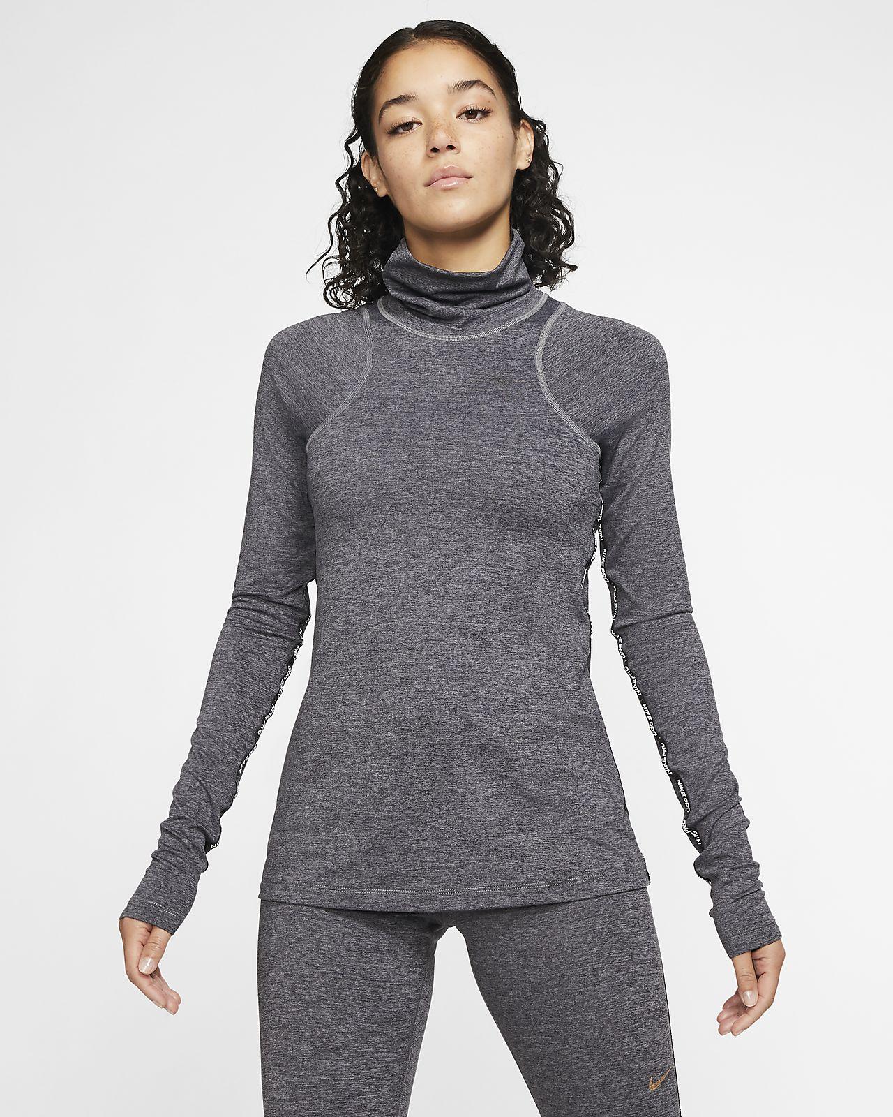 Nike Pro Warm Camiseta de manga larga metalizada - Mujer