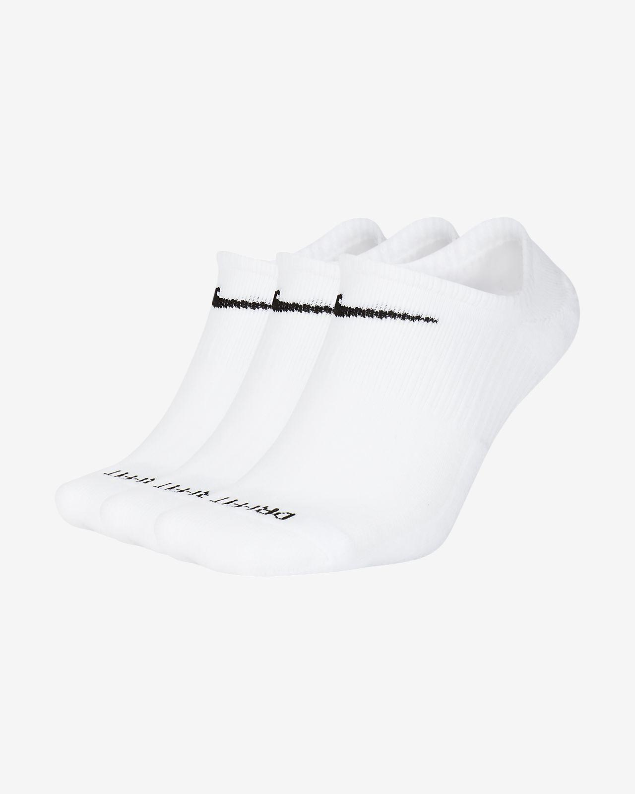 Nike Everyday Plus Cushioned No-Show treningssokker (3 par)