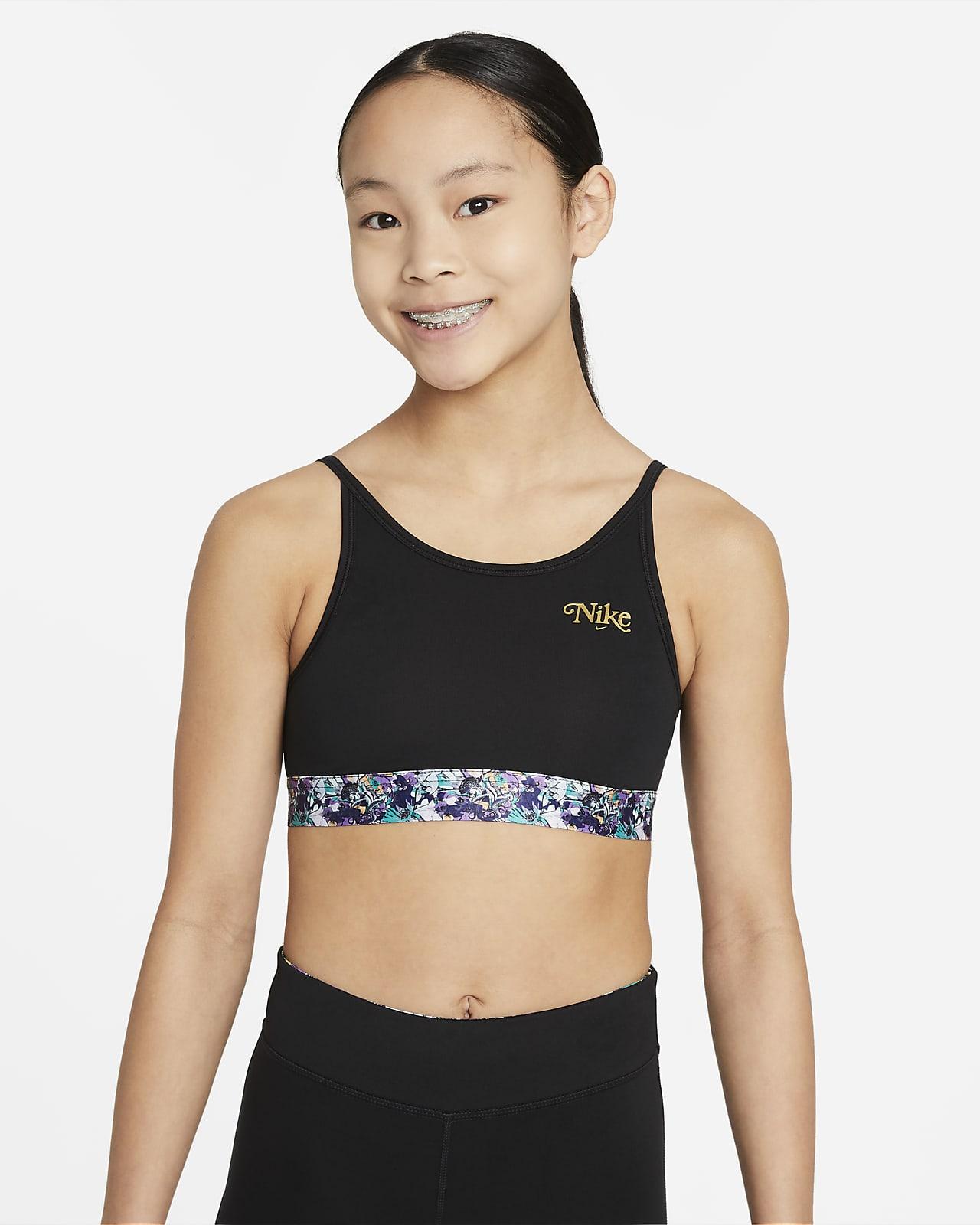 Спортивное бра для девочек школьного возраста Nike Dri-FIT Trophy