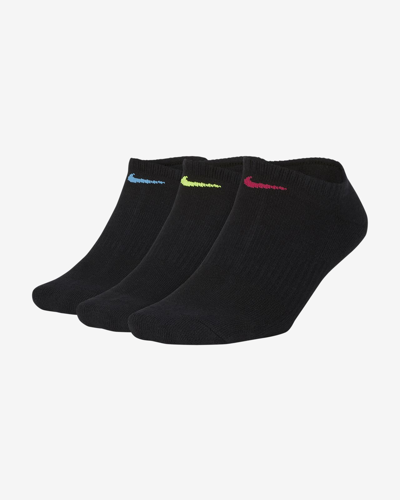 Nike Everyday Cushioned Women's Training No-Show Socks (3 Pairs)