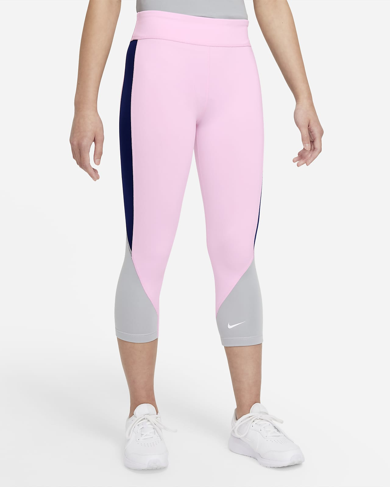 Nike Dri-FIT One 大童 (女童) 高腰七分內搭褲