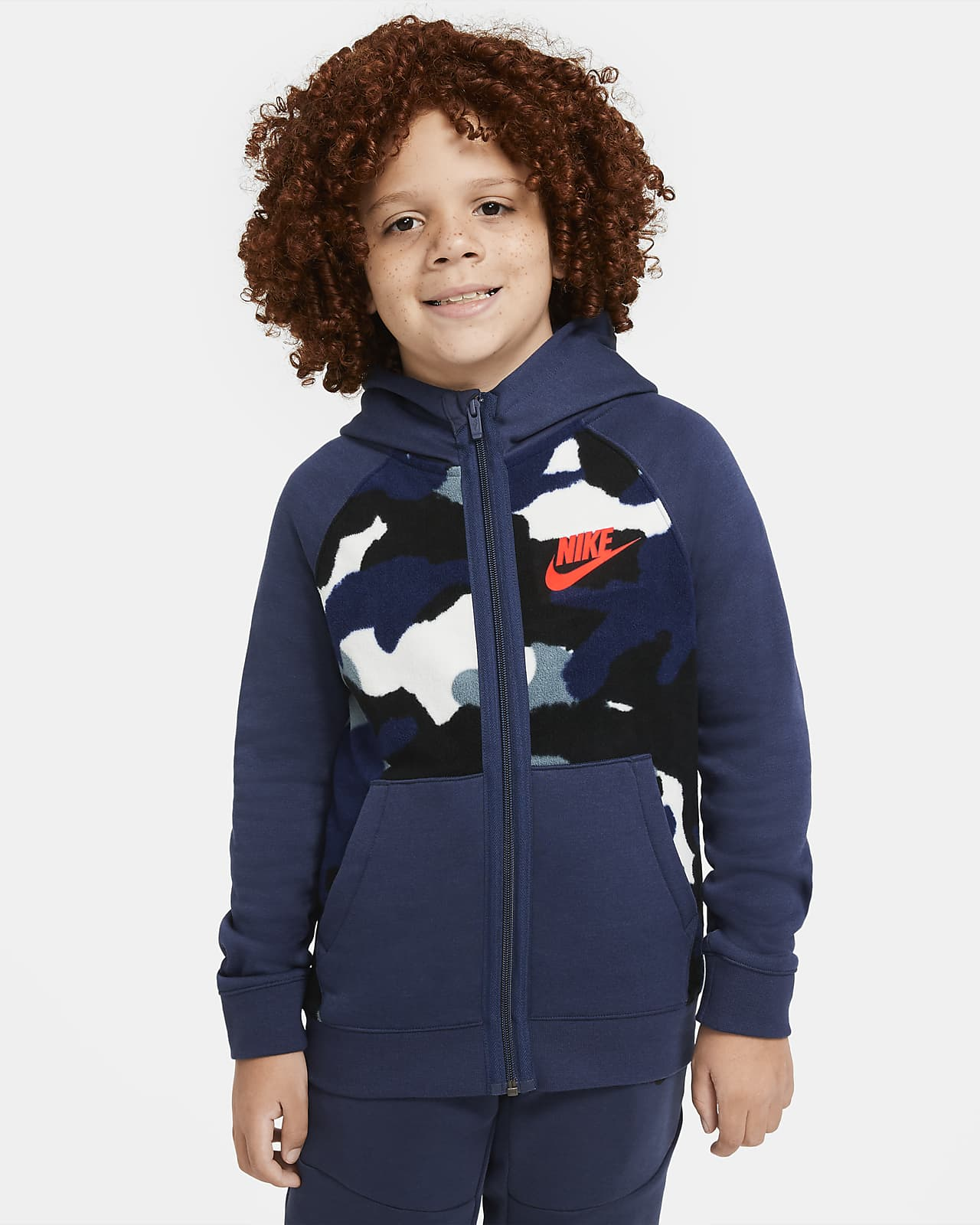 Nike Sportswear Club Fleece Big Kids' (Boys') Full-Zip Hoodie