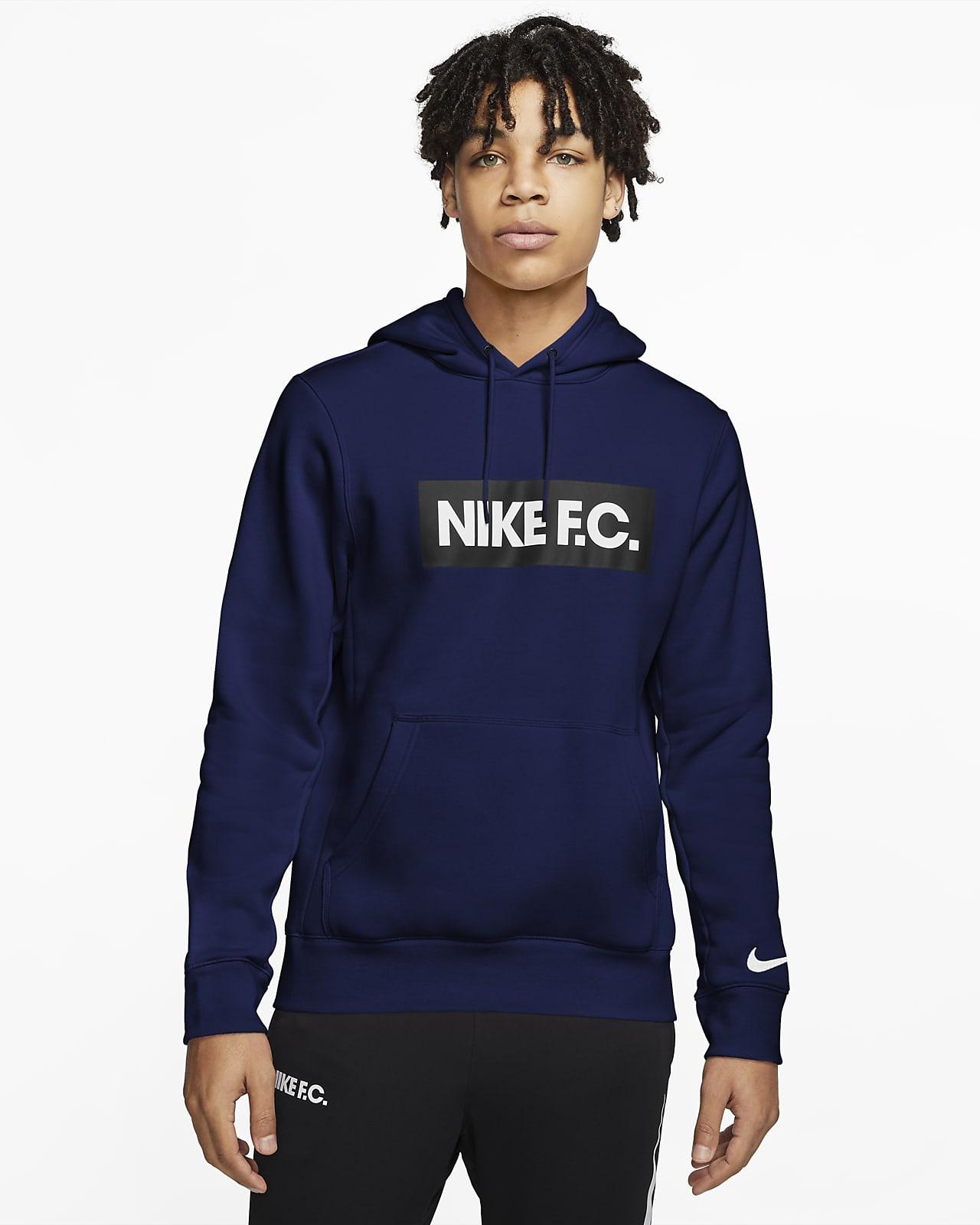Fotbollshuvtröja i fleece Nike F.C. för män