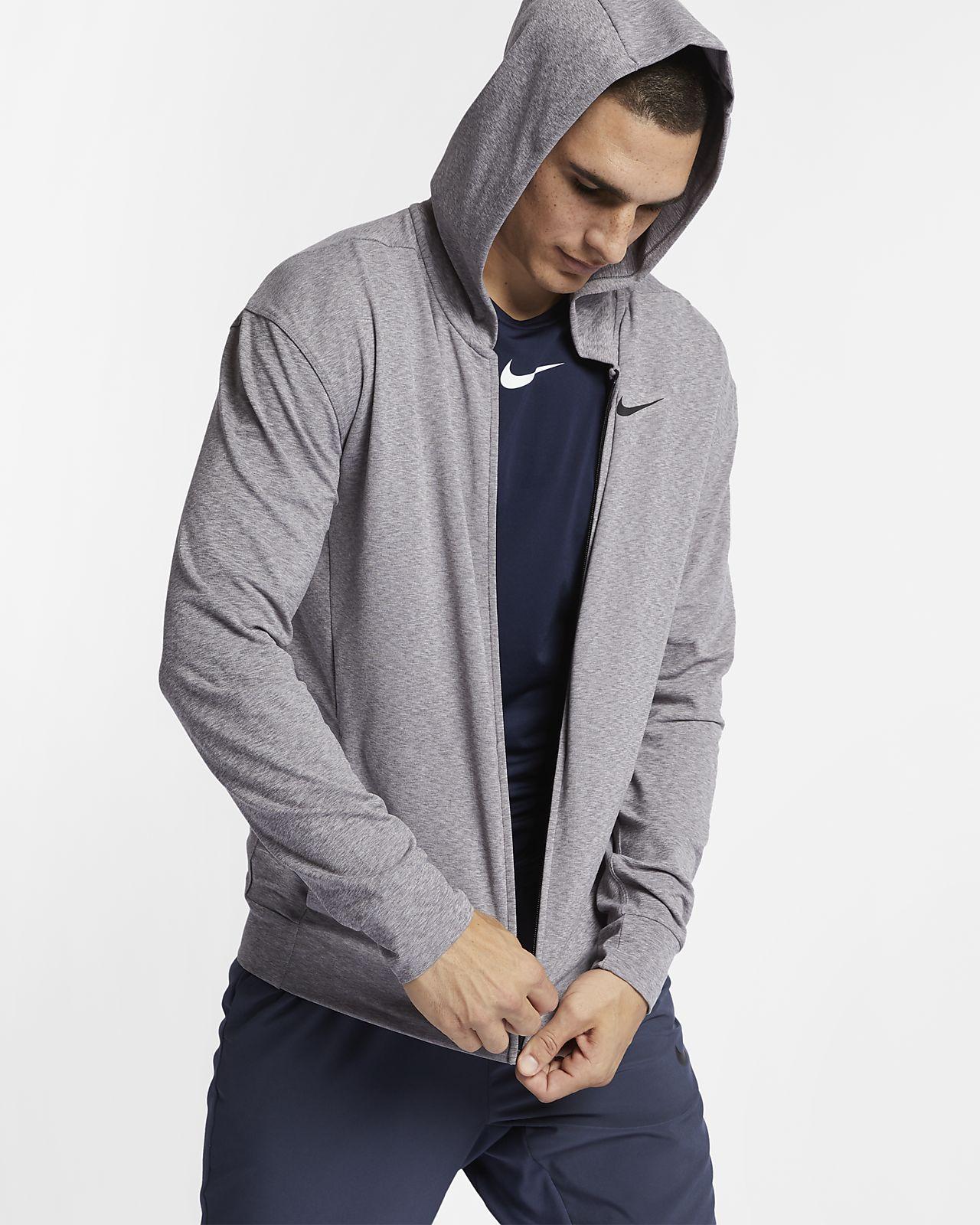 เสื้อเทรนนิ่งโยคะมีฮู้ดซิปยาวผู้ชาย Nike Dri-FIT