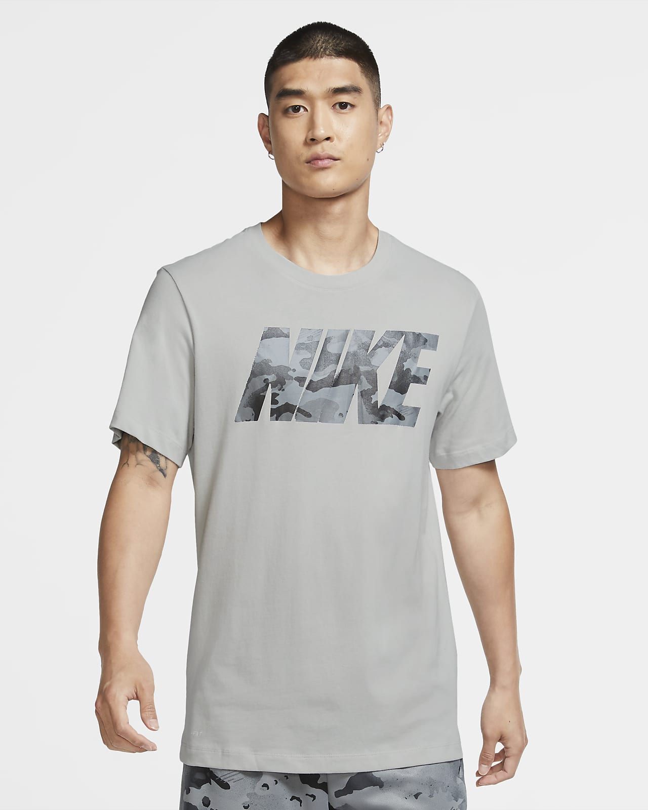 Nike Dri-FIT Trainings-T-Shirt im Camo-Design mit Logo für Herren
