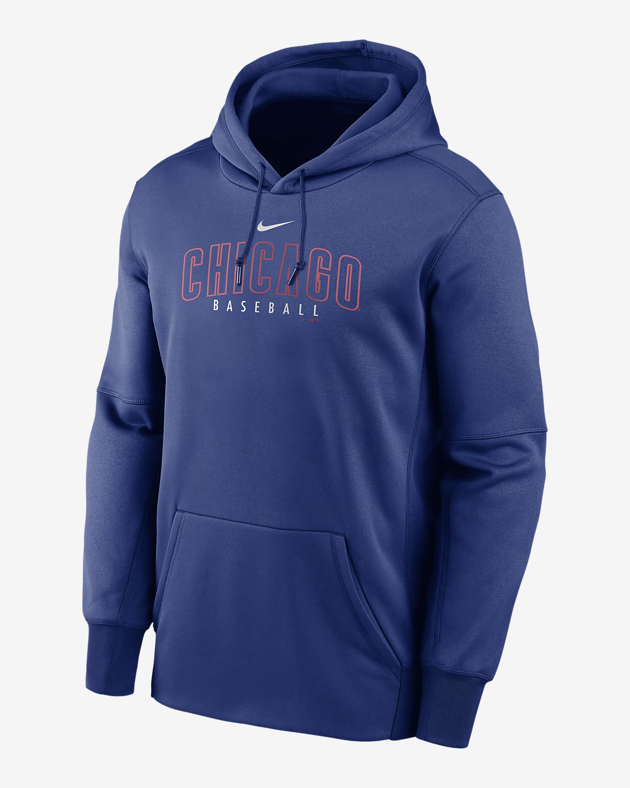 Nike Therma Outline Wordmark (MLB Chicago Cubs) Men's Pullover Hoodie