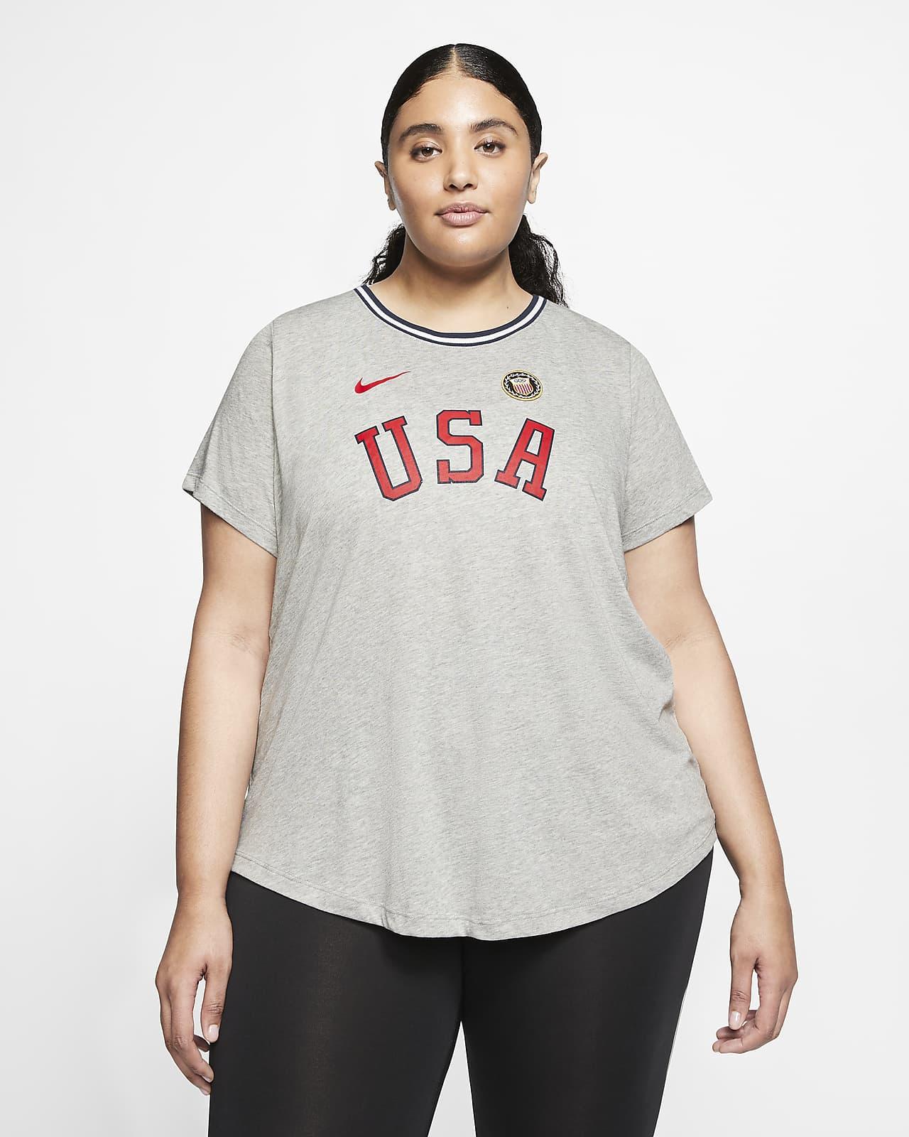 Playera para mujer Nike Team USA (talla grande)