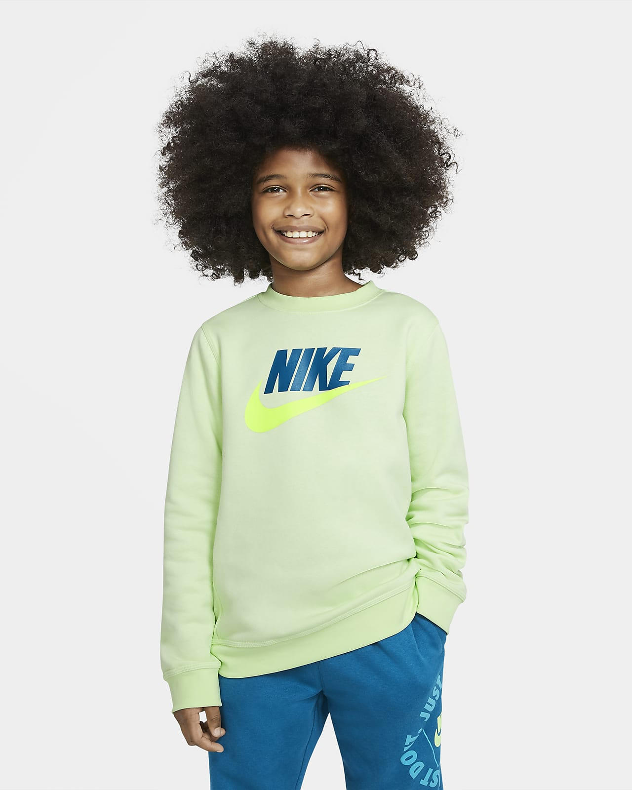 Nike Sportswear Club Fleece Older Kids' (Boys') Crew