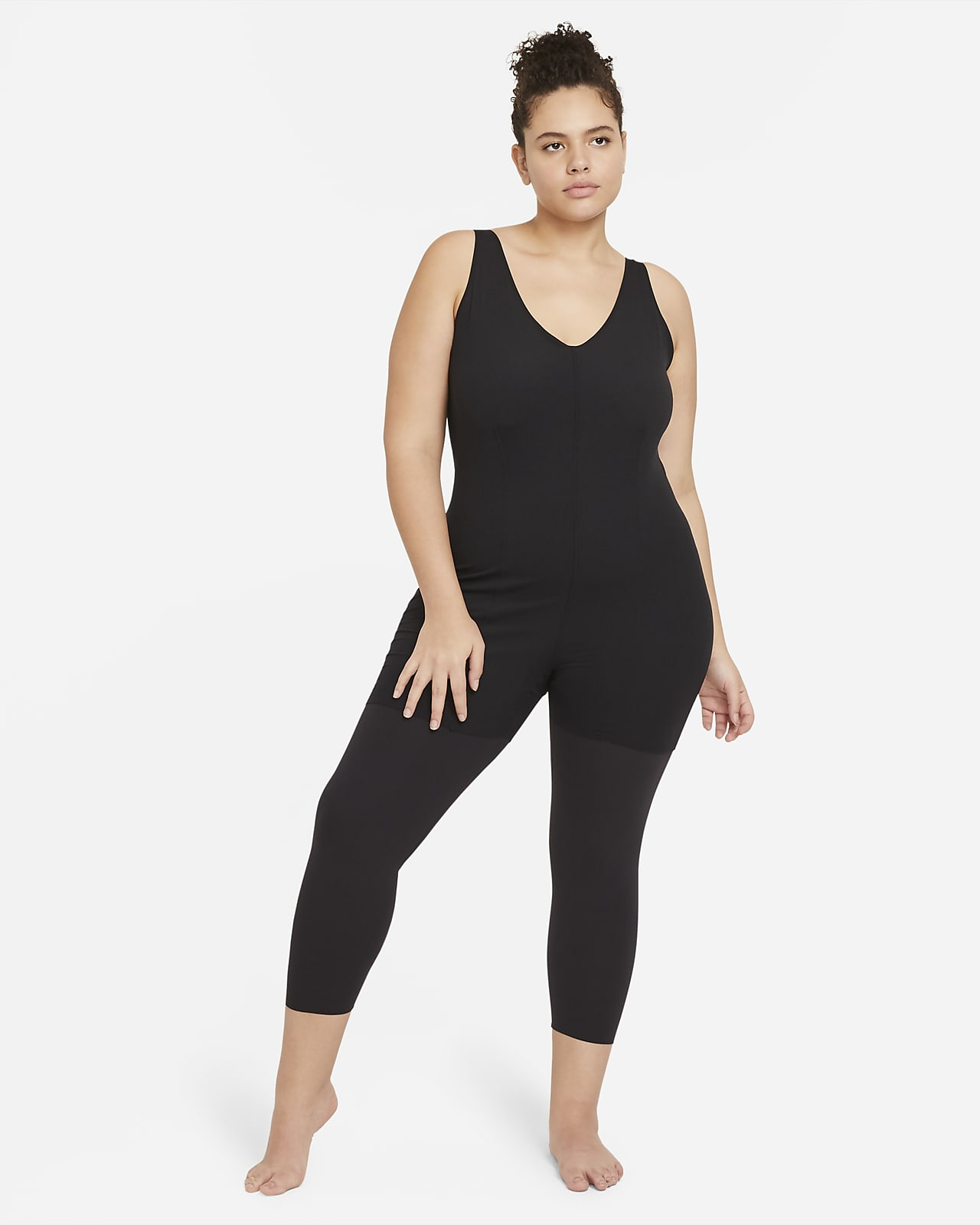 Nike Yoga Luxe Women's 7/8 Layered Jumpsuit (Plus Size)
