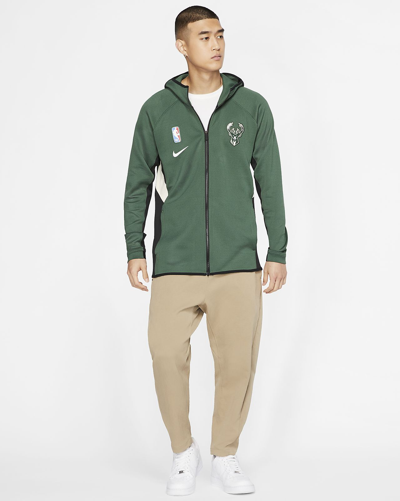 Milwaukee Bucks Nike Therma Flex Showtime NBA hoodie voor heren
