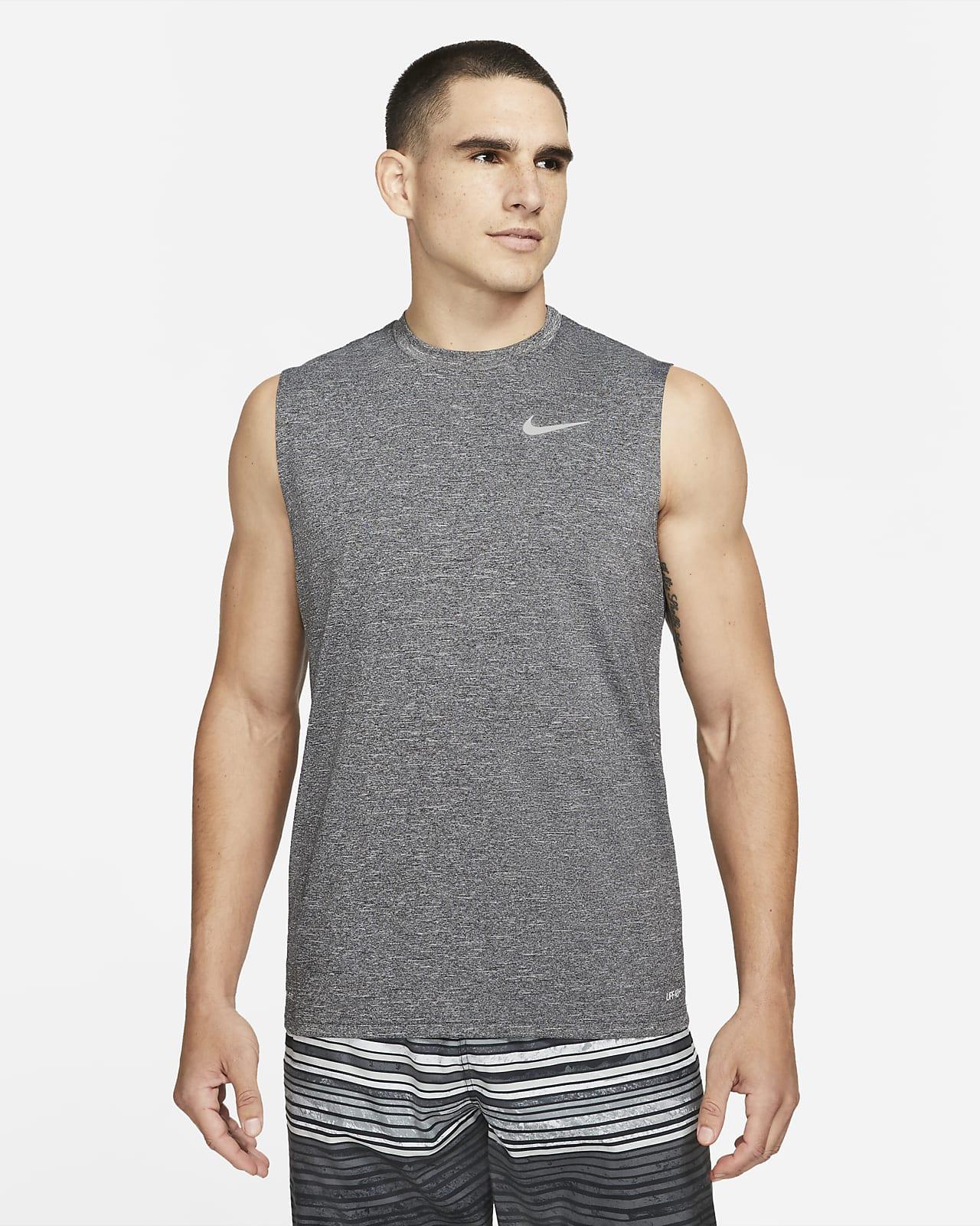 Nike Men's Heathered Sleeveless Hydroguard Swim Shirt