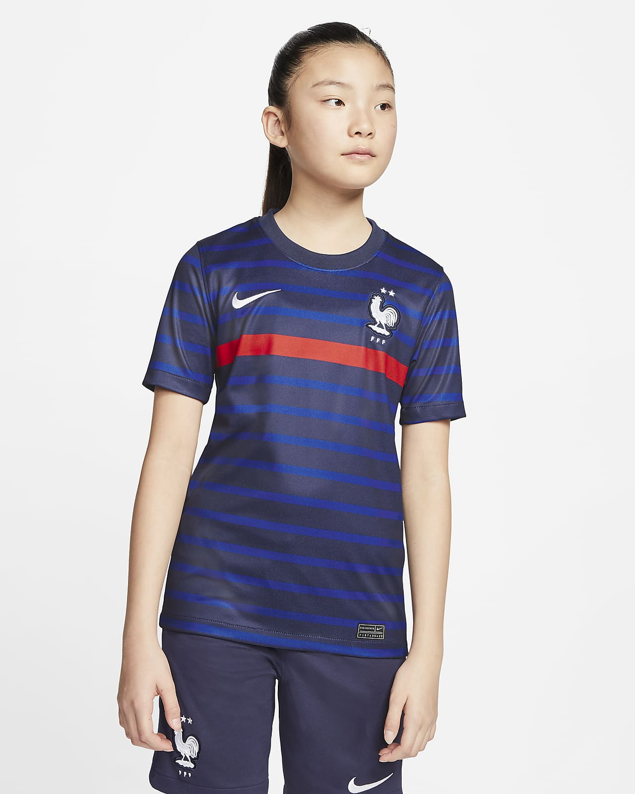 Maillot de football FFF 2020 Stadium Home pour Enfant plus âgé