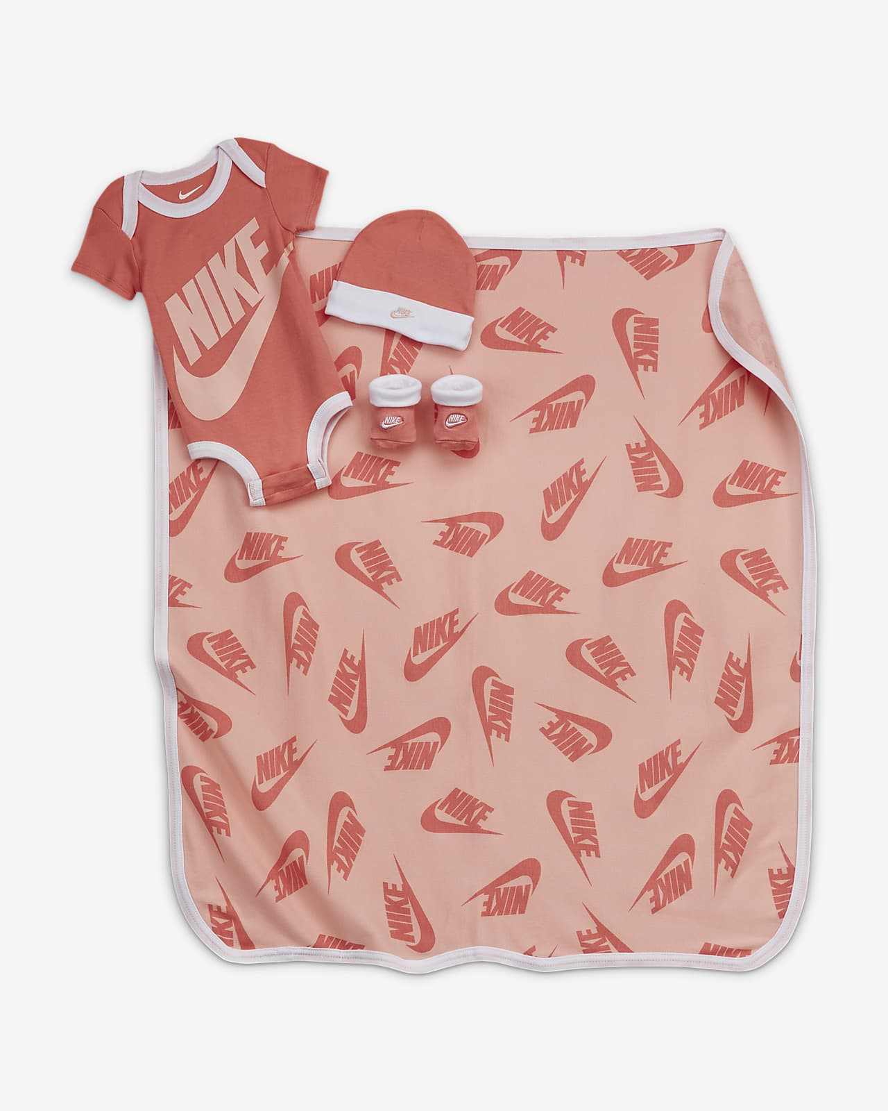 Nike Baby (12–24M) 4-Piece Set (with Blanket)
