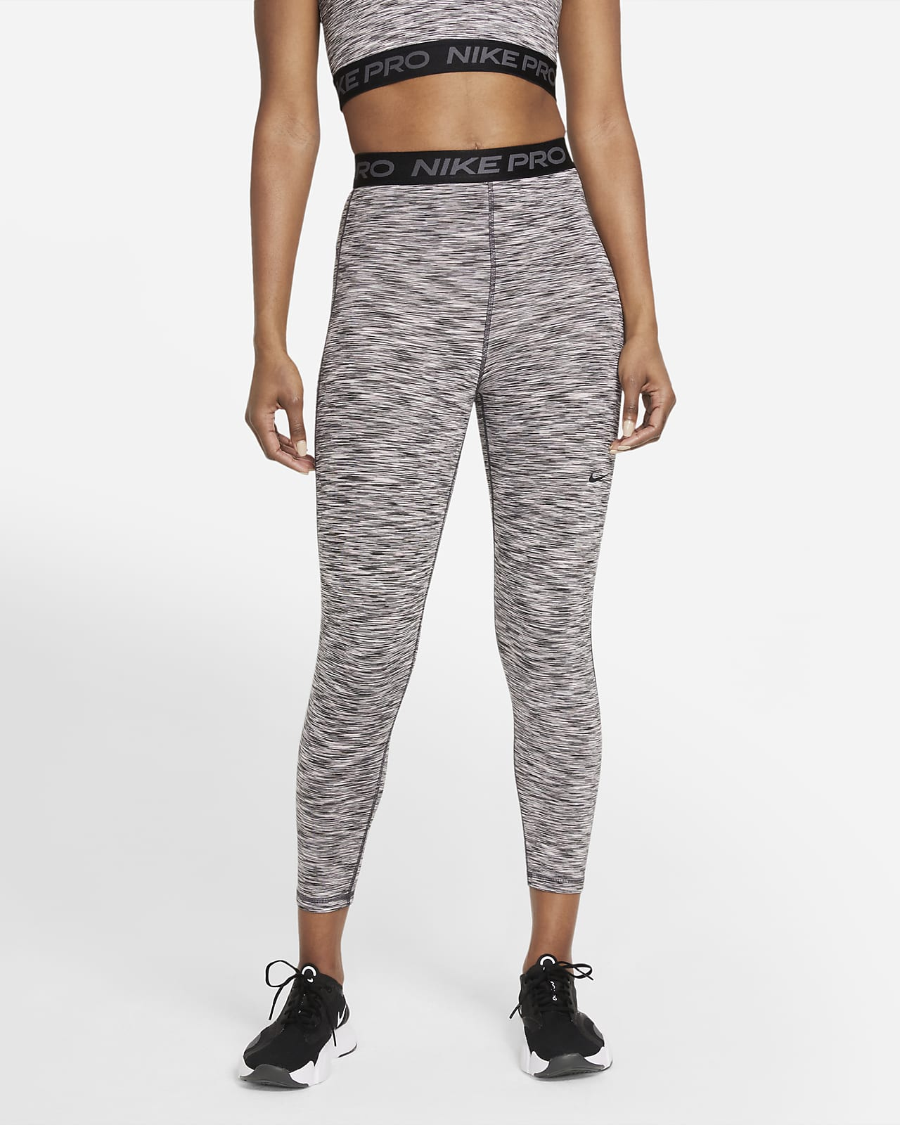 Leggings cropped de cintura alta y teñido Space-Dye para mujer Nike Pro