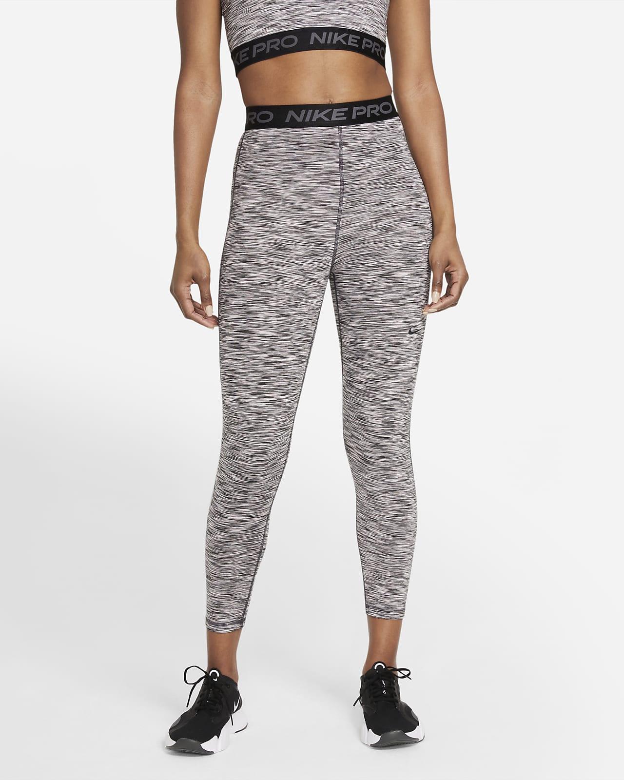 Nike Pro Women's High-Waisted Crop Space-Dye Leggings