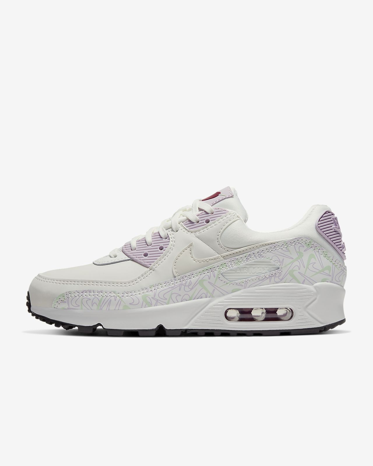 Colorful Nike Womens Air Max 90 Purple Yellow Pink Sneakers