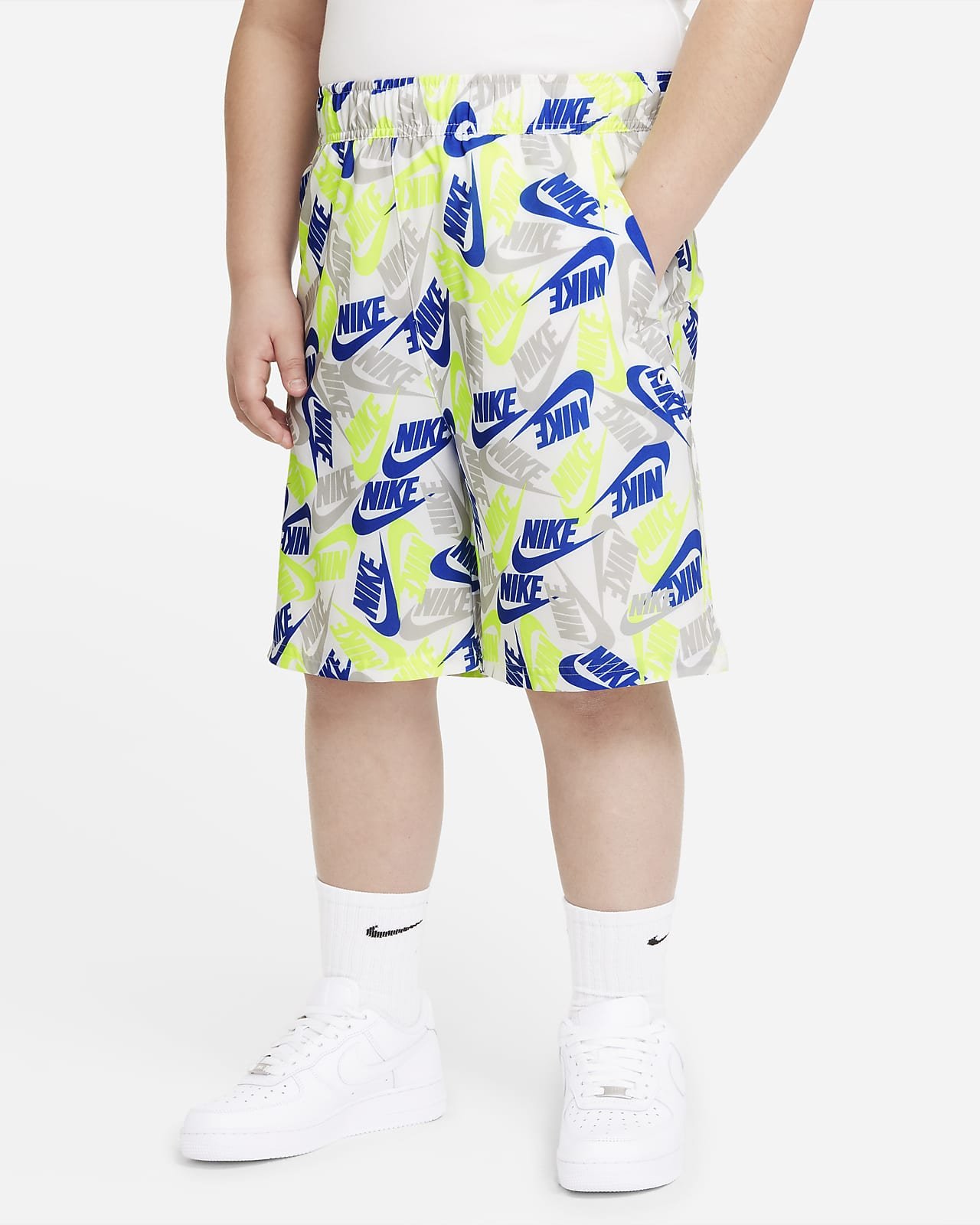 Nike Sportswear Big Kids' (Boys') Woven Printed Shorts (Extended Size)