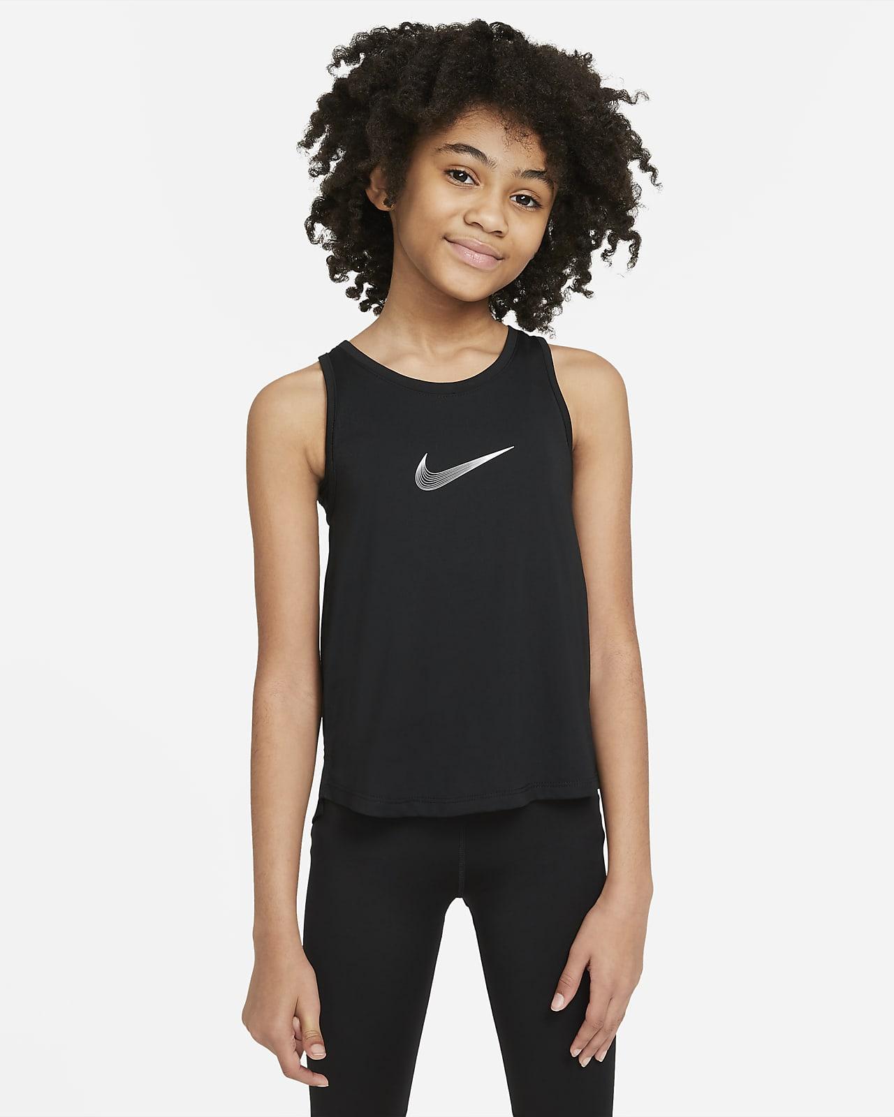 Camiseta de tirantes de entrenamiento Nike Dri-FIT Trophy para niña talla grande