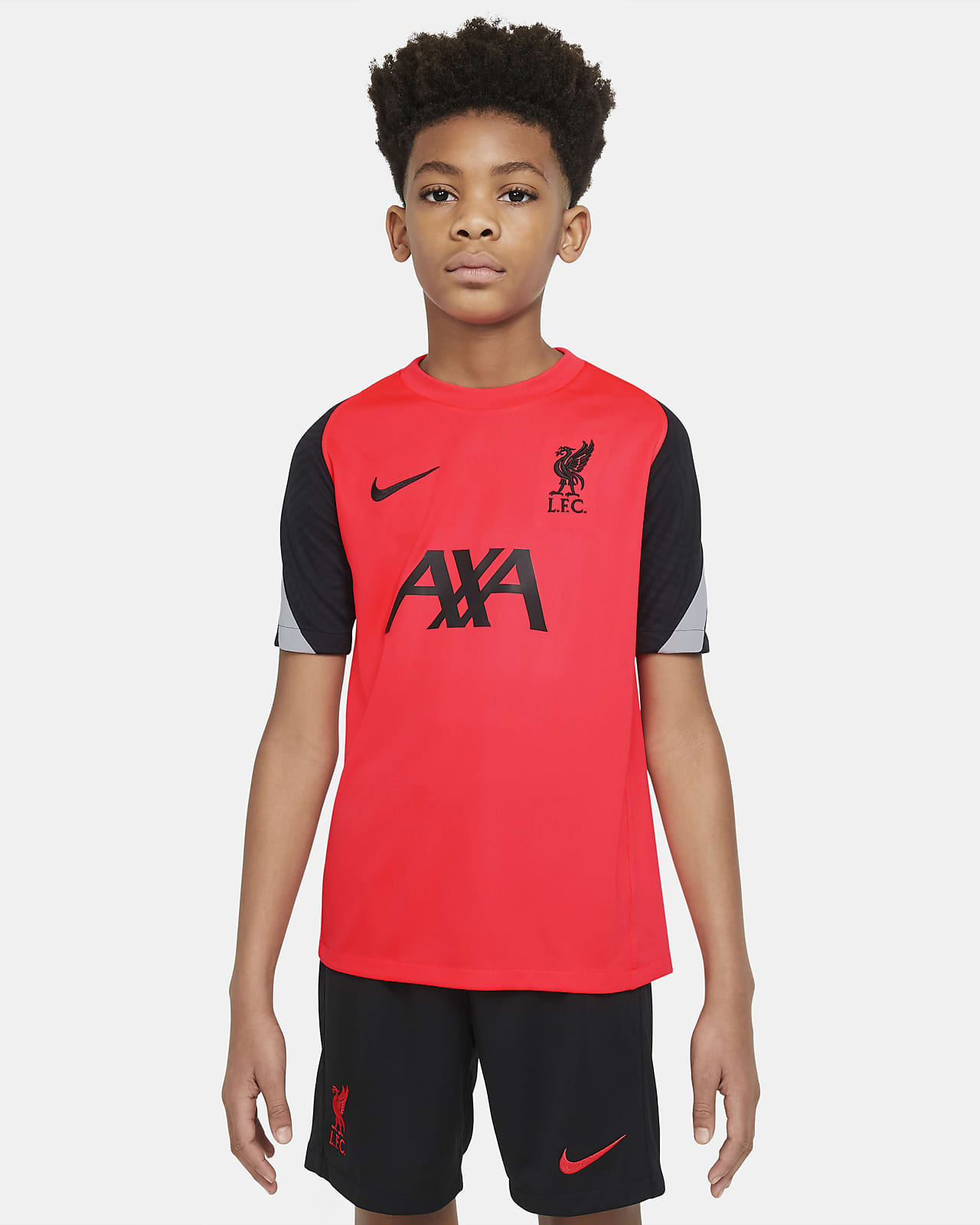 Camiseta de fútbol de manga corta para niños talla grande Liverpool FC Strike