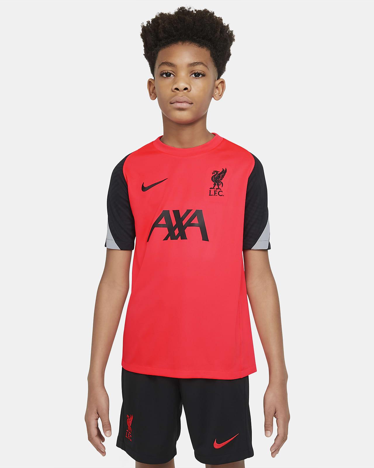 Kortärmad fotbollströja Liverpool FC Strike för ungdom