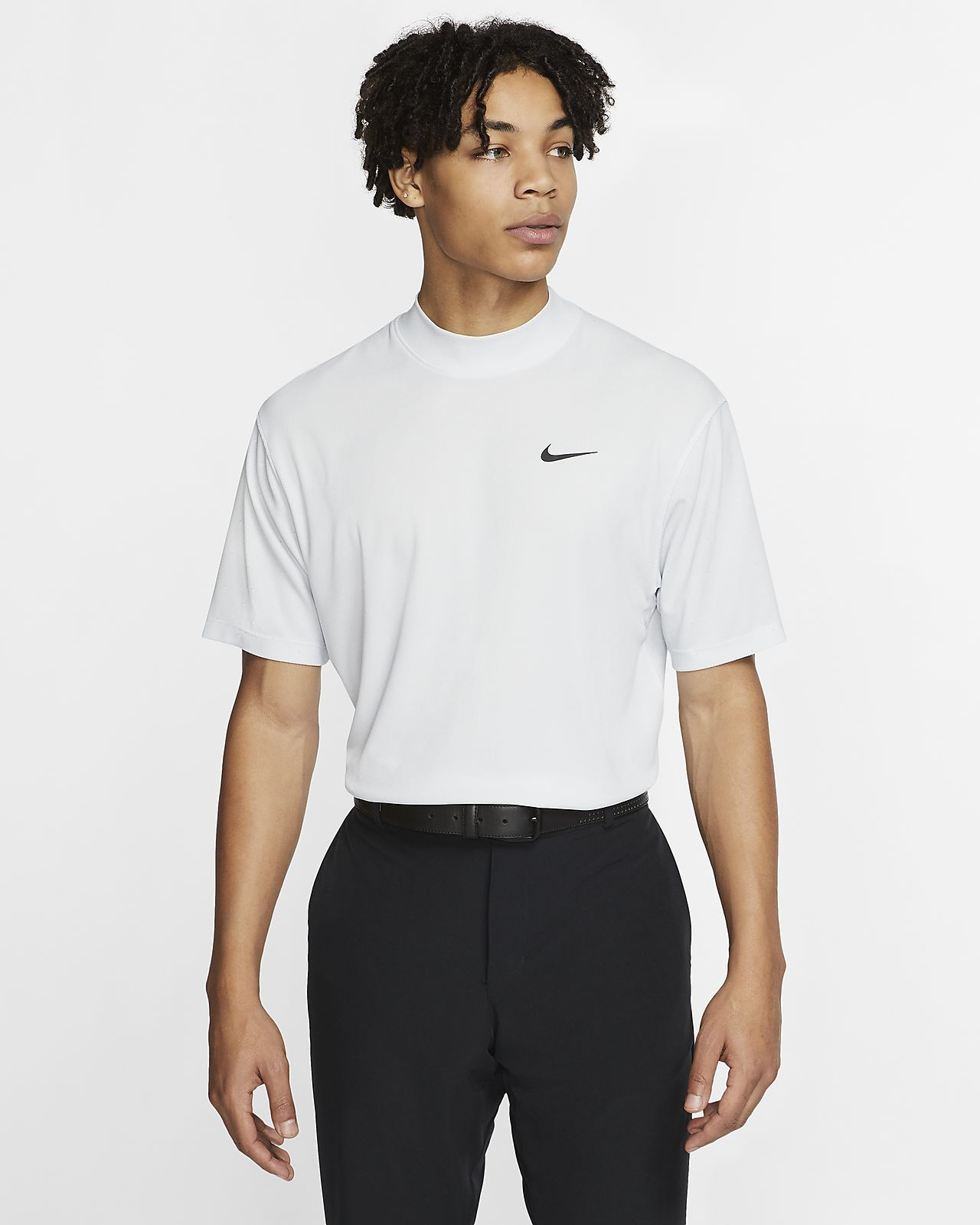 nike fleece mock neck top