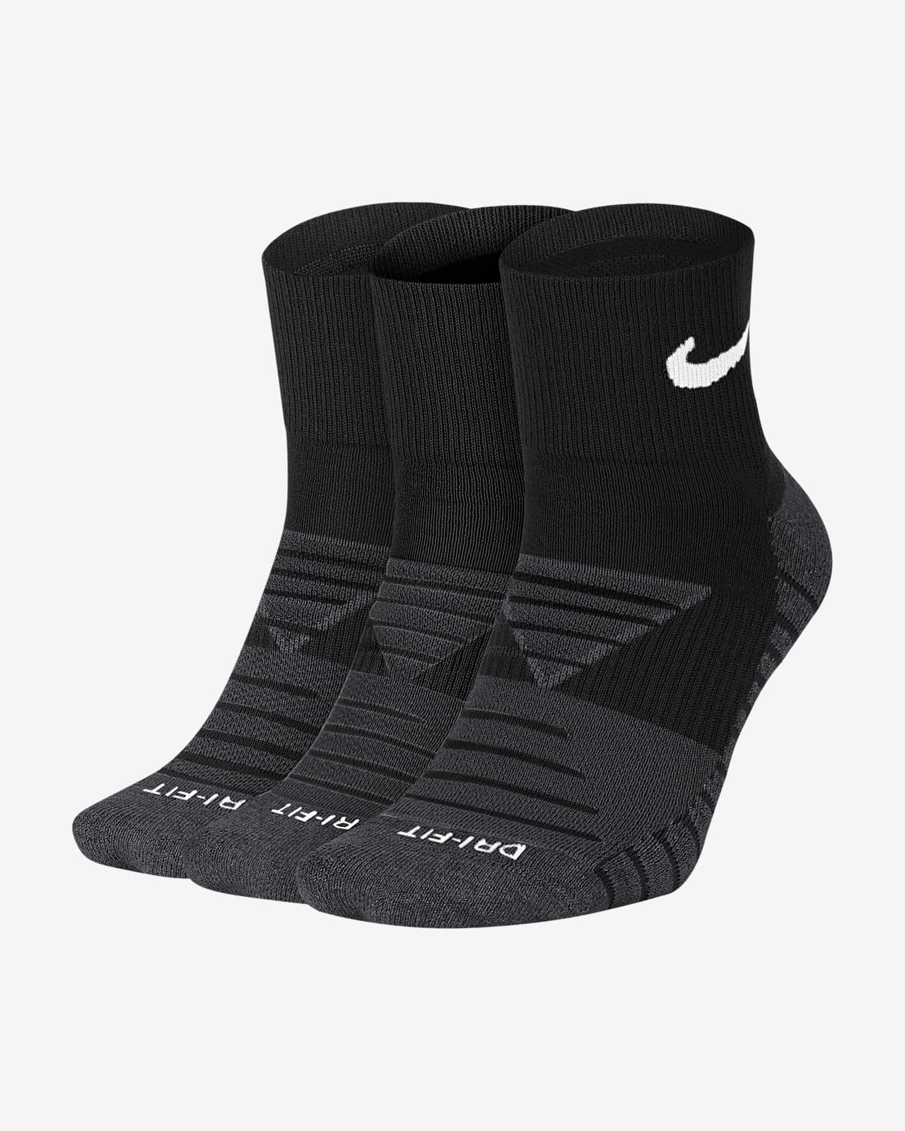 Nike Everyday Max Cushioned Training Ankle Socks (3 Pairs)