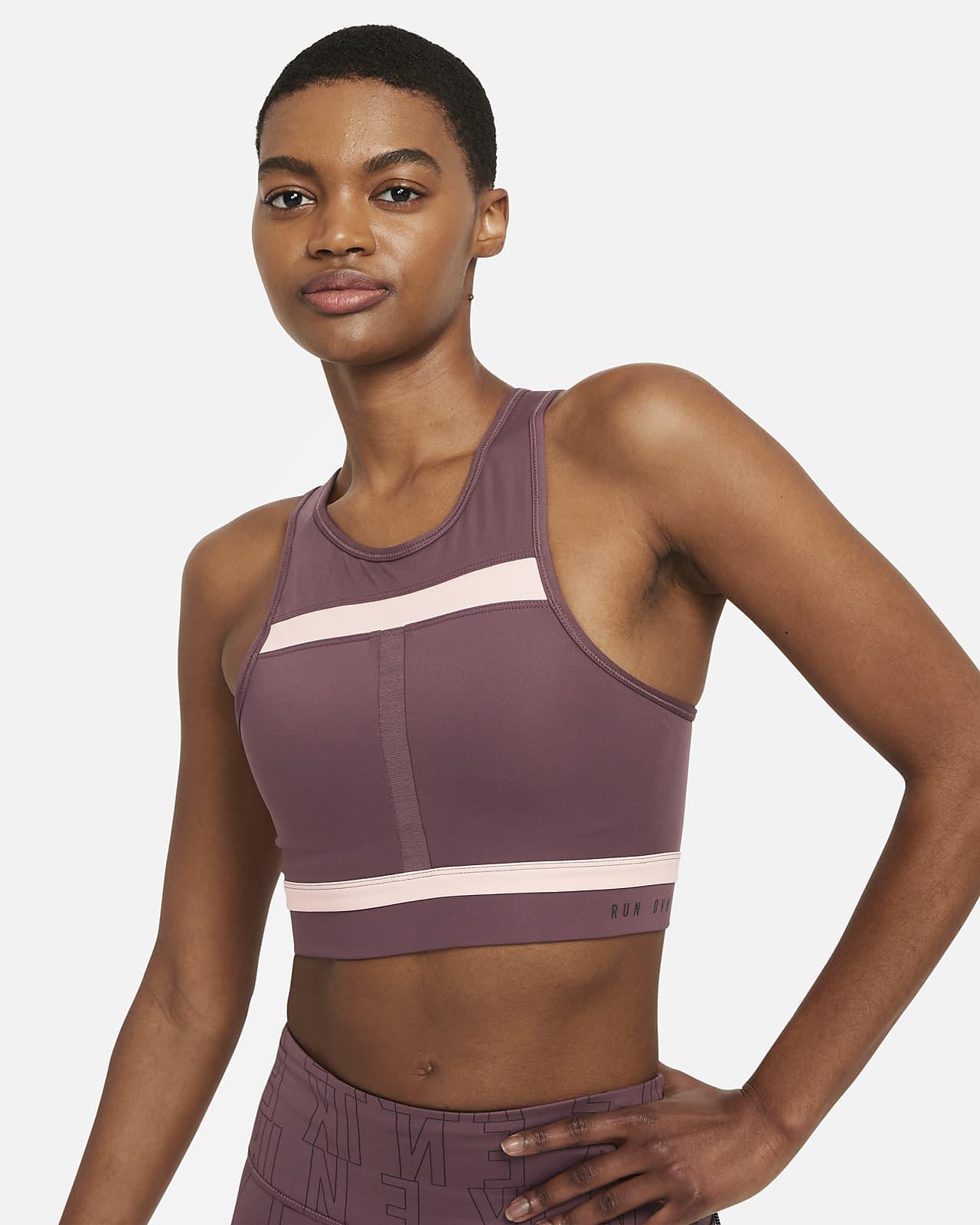 Nike Dri-FIT Swoosh Run Division Women's Medium-Support 1-Piece Pad Longline Sports Bra