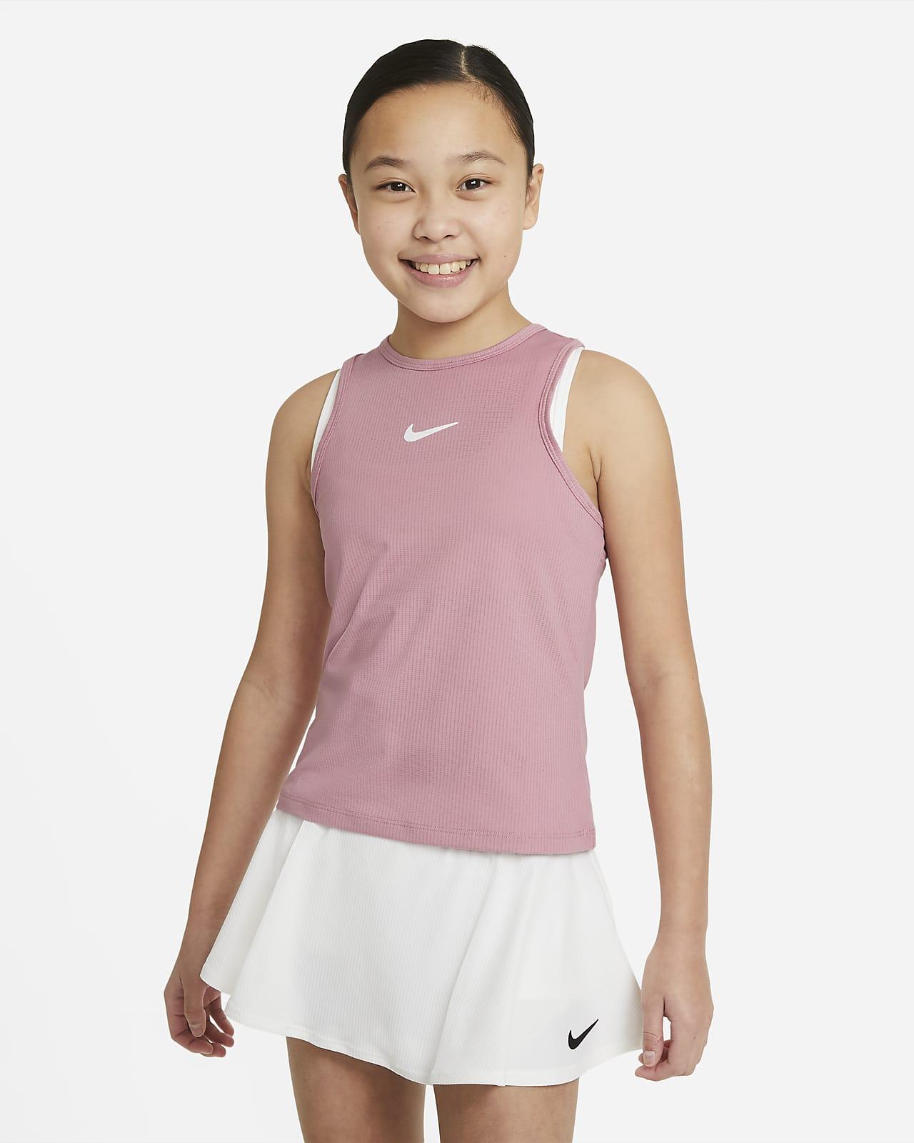 NikeCourt Dri-FIT Victory Older Kids' (Girls') Tennis Tank