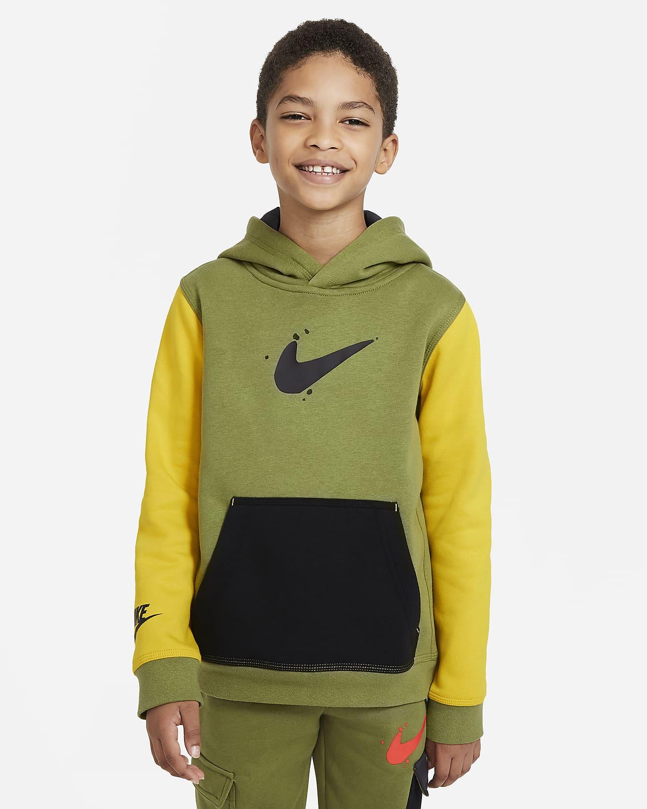 Sudadera con capucha sin cierre para niño talla grande Nike Sportswear Club Fleece